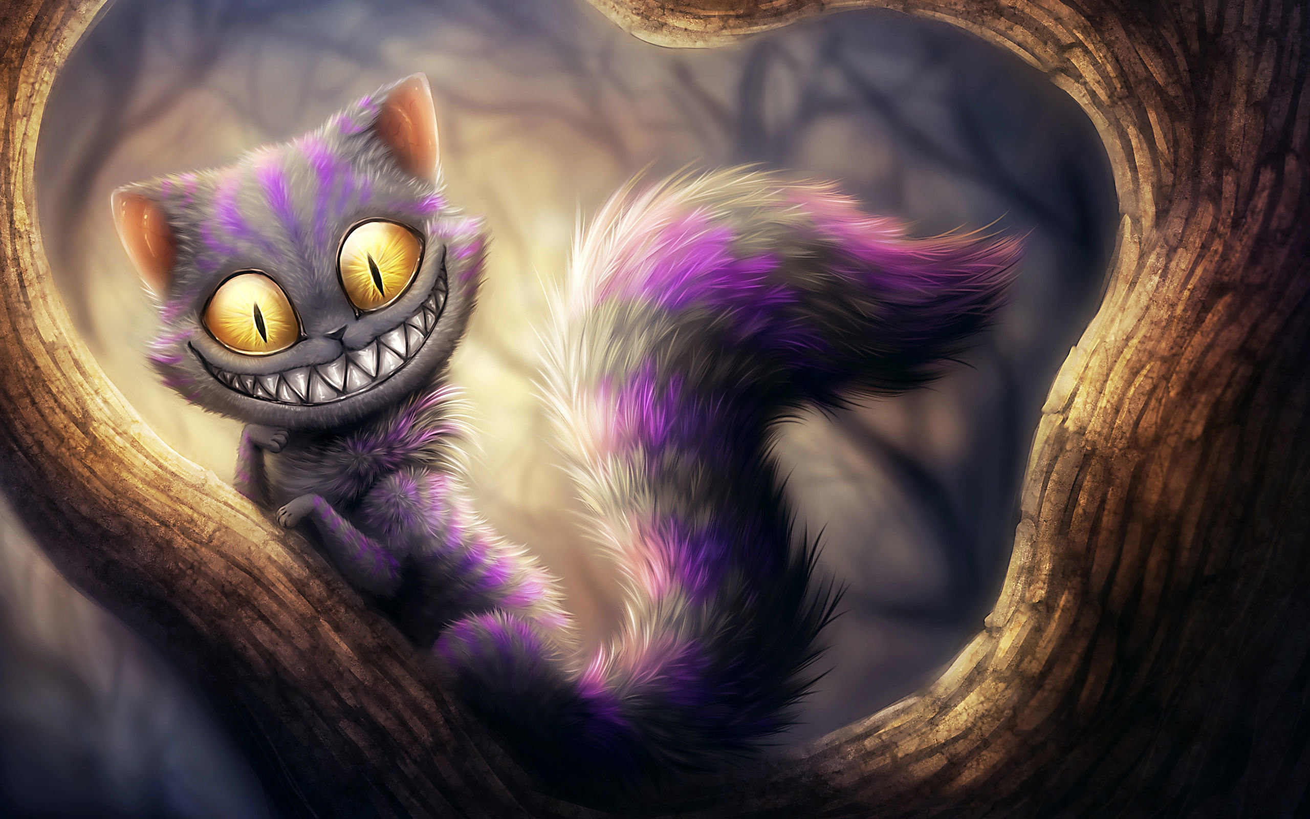 Free download Cheshire Cat background ID:142975 hd 2560x1600 for desktop
