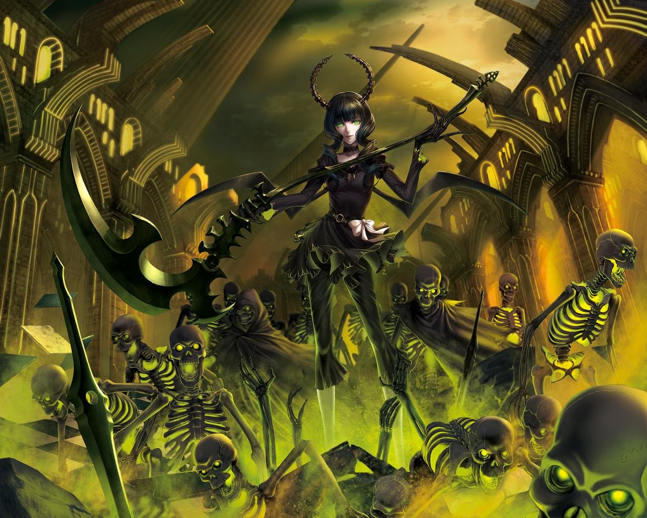 Best Dead Master (Black Rock Shooter) background ID:454972 for High Resolution hd 1280x1024 desktop