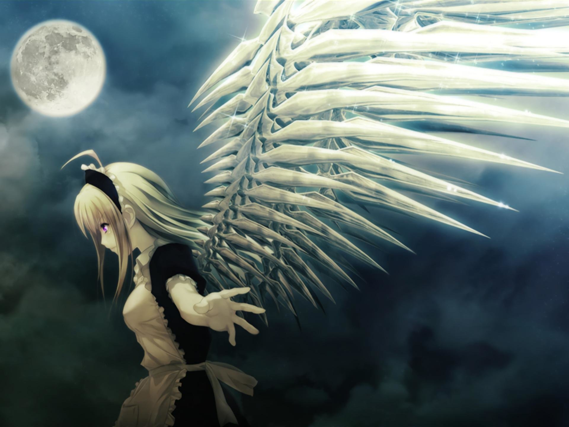 Free download Angel Anime background ID:61901 hd 1920x1440 for PC