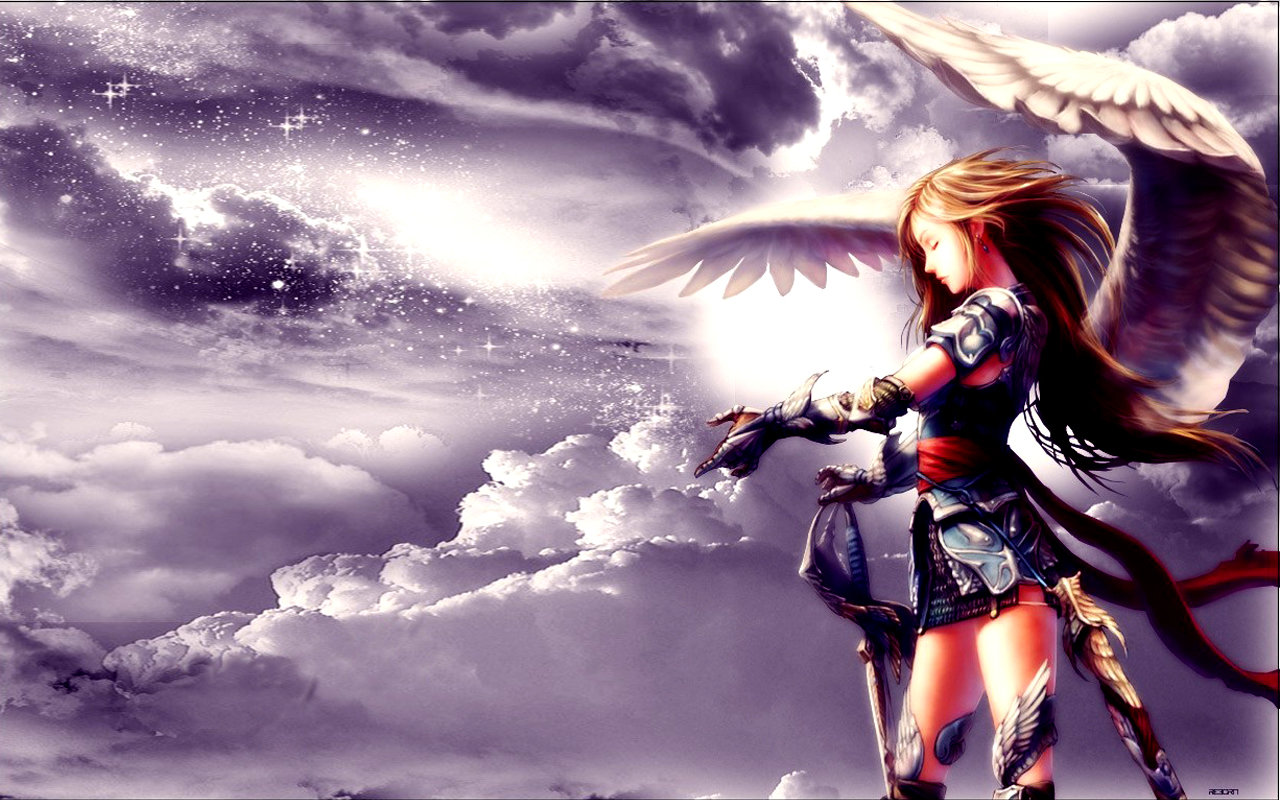 Download hd 1280x800 Angel Anime PC wallpaper ID:61917 for free
