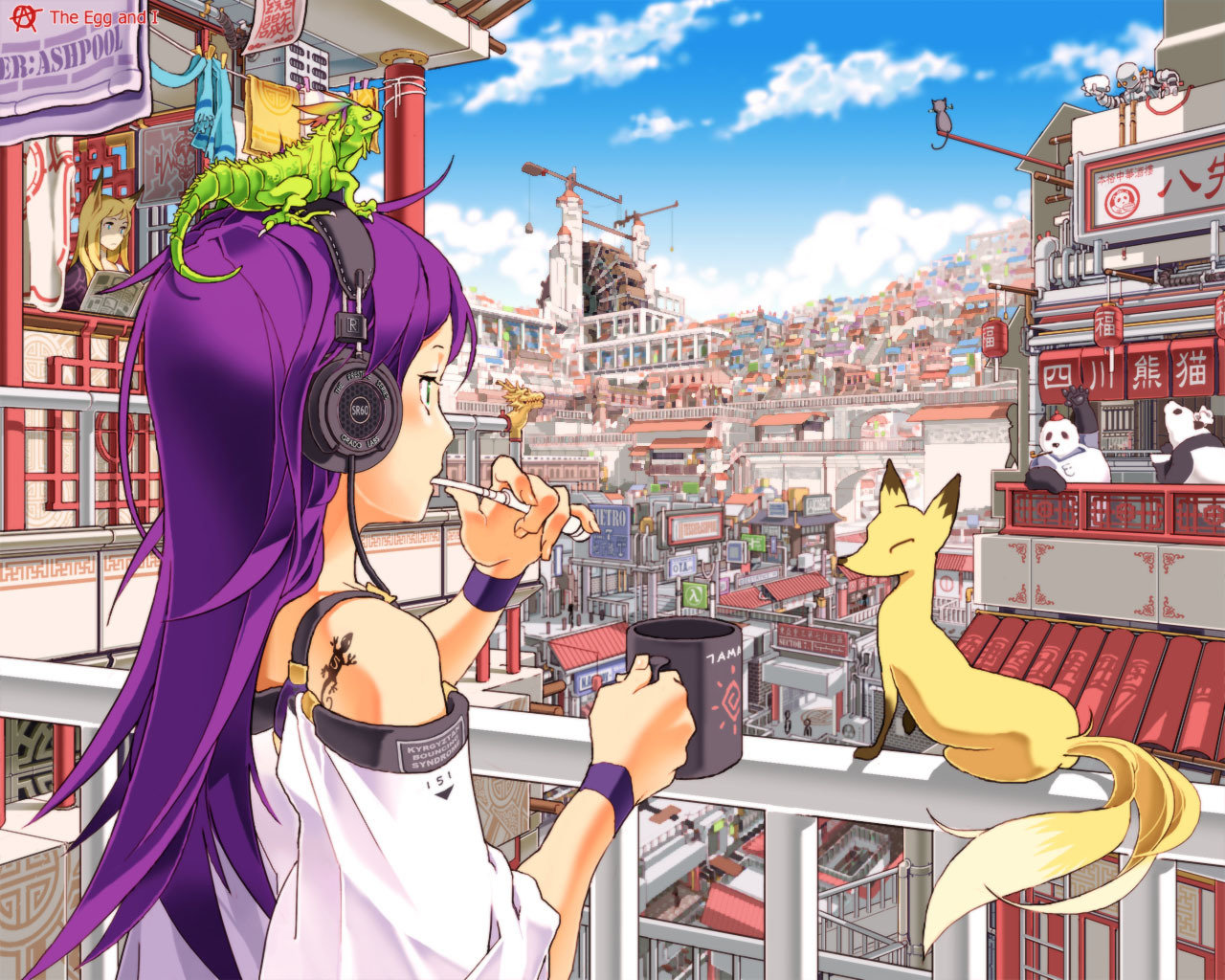 High resolution Headphones Anime hd 1280x1024 wallpaper ID:142281 for PC