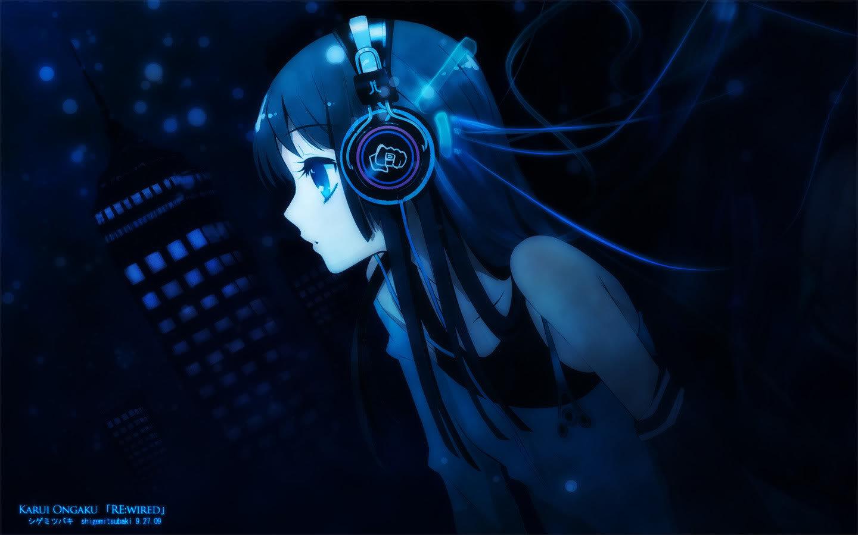 High Resolution Headphones Anime Hd 1440x900 Wallpaper Id 142271 For