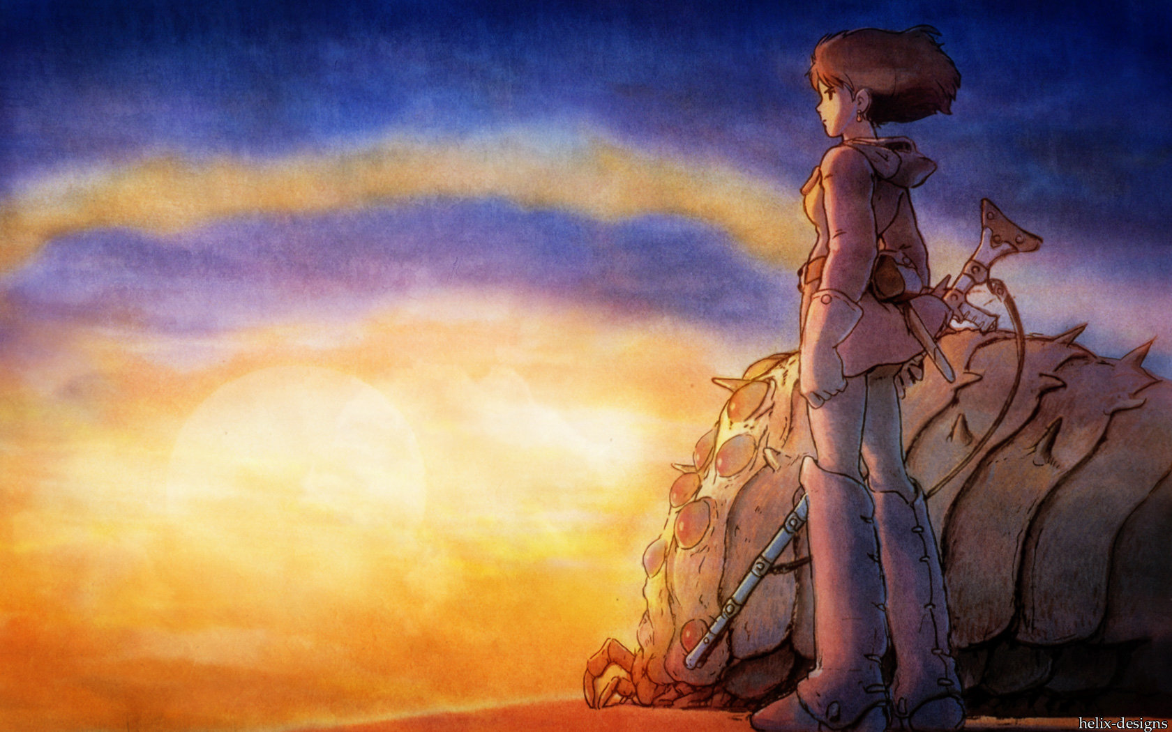 High resolution Nausicaa Of The Valley Of The Wind hd 1680x1050 wallpaper ID:315374 for computer