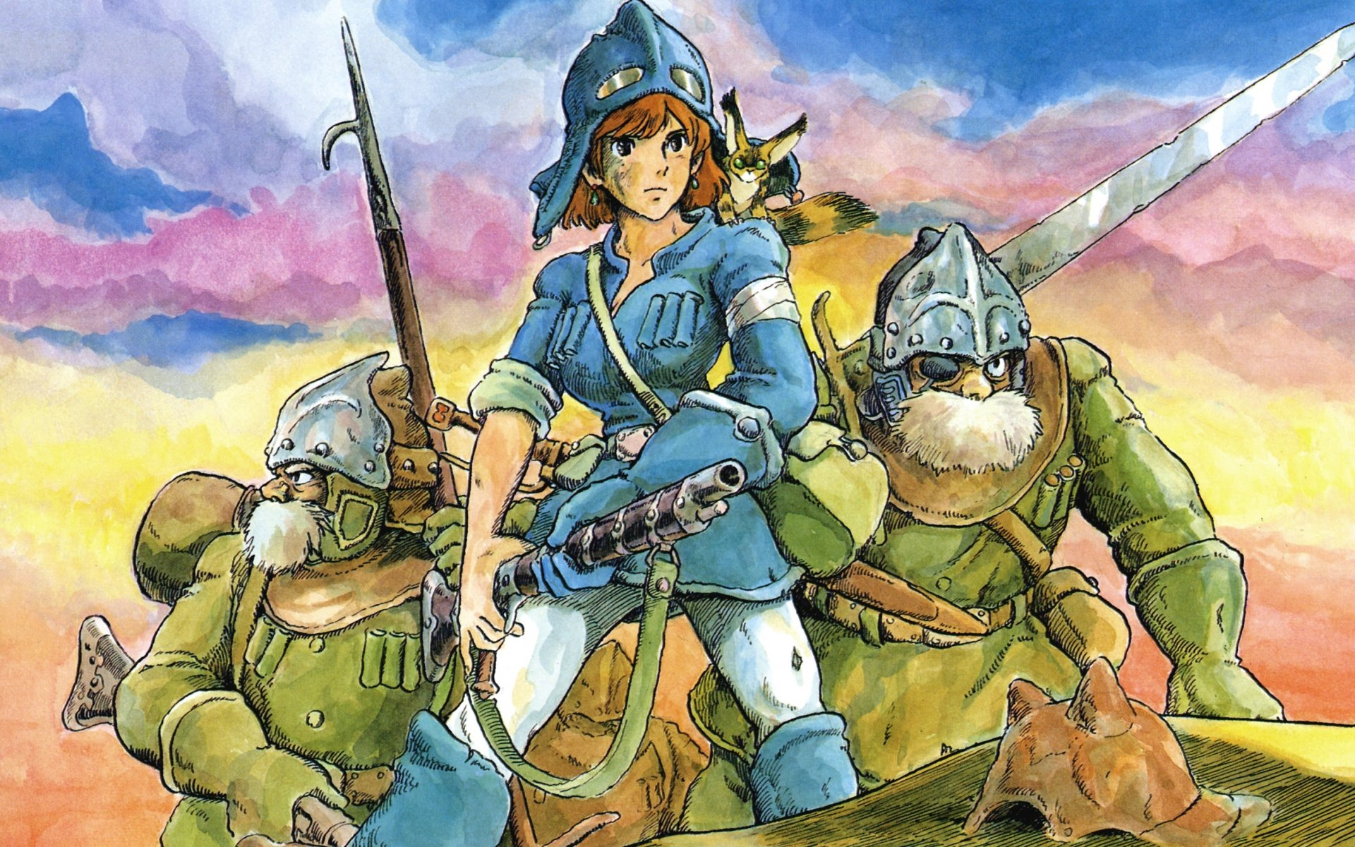 Download hd 1920x1200 Nausicaa Of The Valley Of The Wind PC wallpaper ID:315372 for free