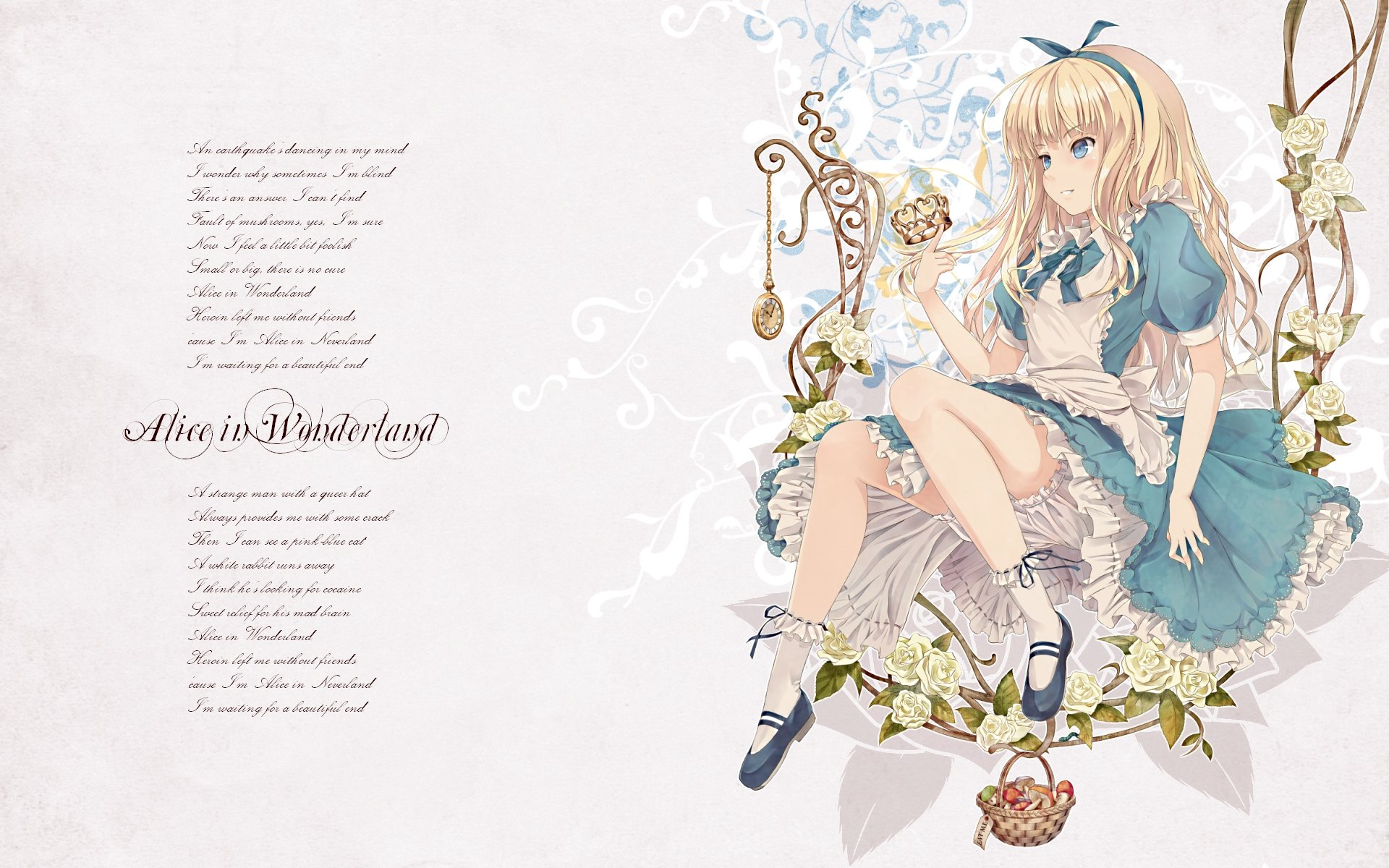 High resolution Alice In Wonderland Anime hd 1920x1200 wallpaper ID:473422 for computer