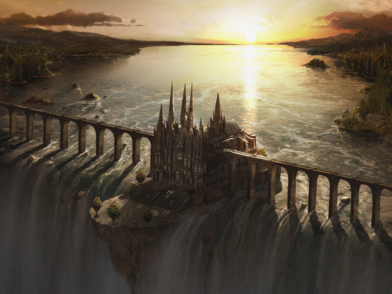 Awesome Fantasy castle free background ID:236285 for hd 1280x960 computer