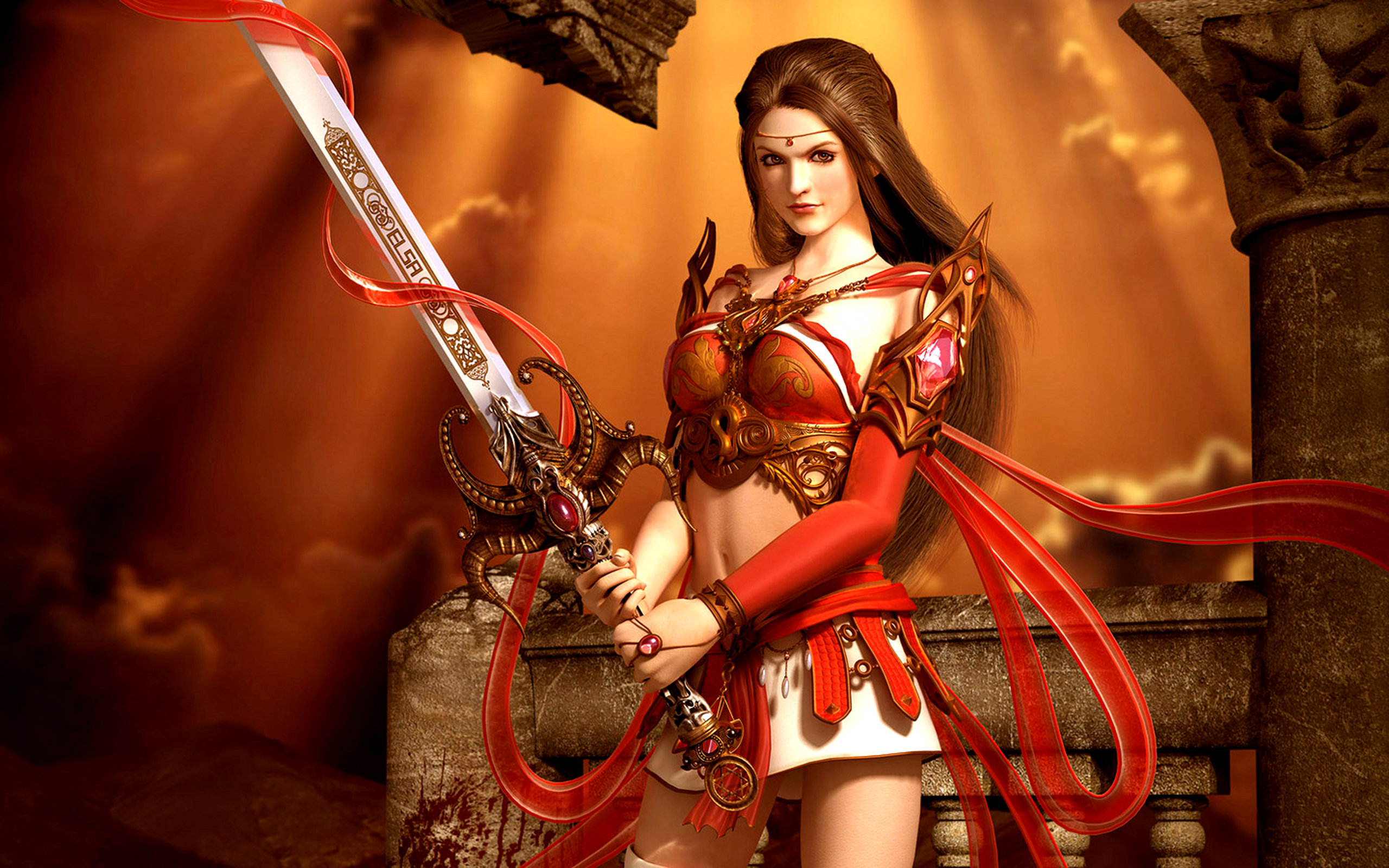 Download hd 2560x1600 Fantasy women PC background ID:342514 for free