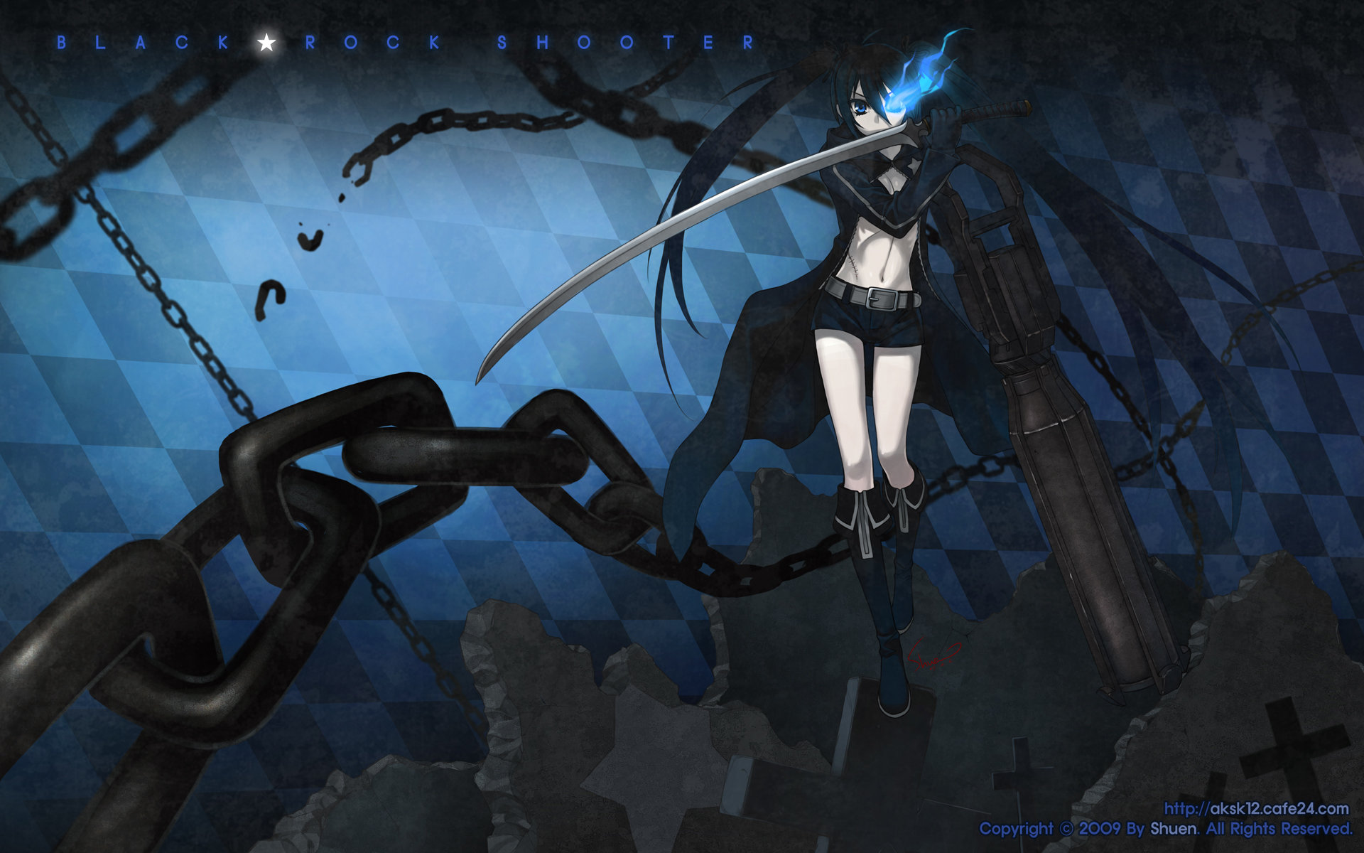 Free download Black Rock Shooter background ID:454699 hd 1920x1200 for computer