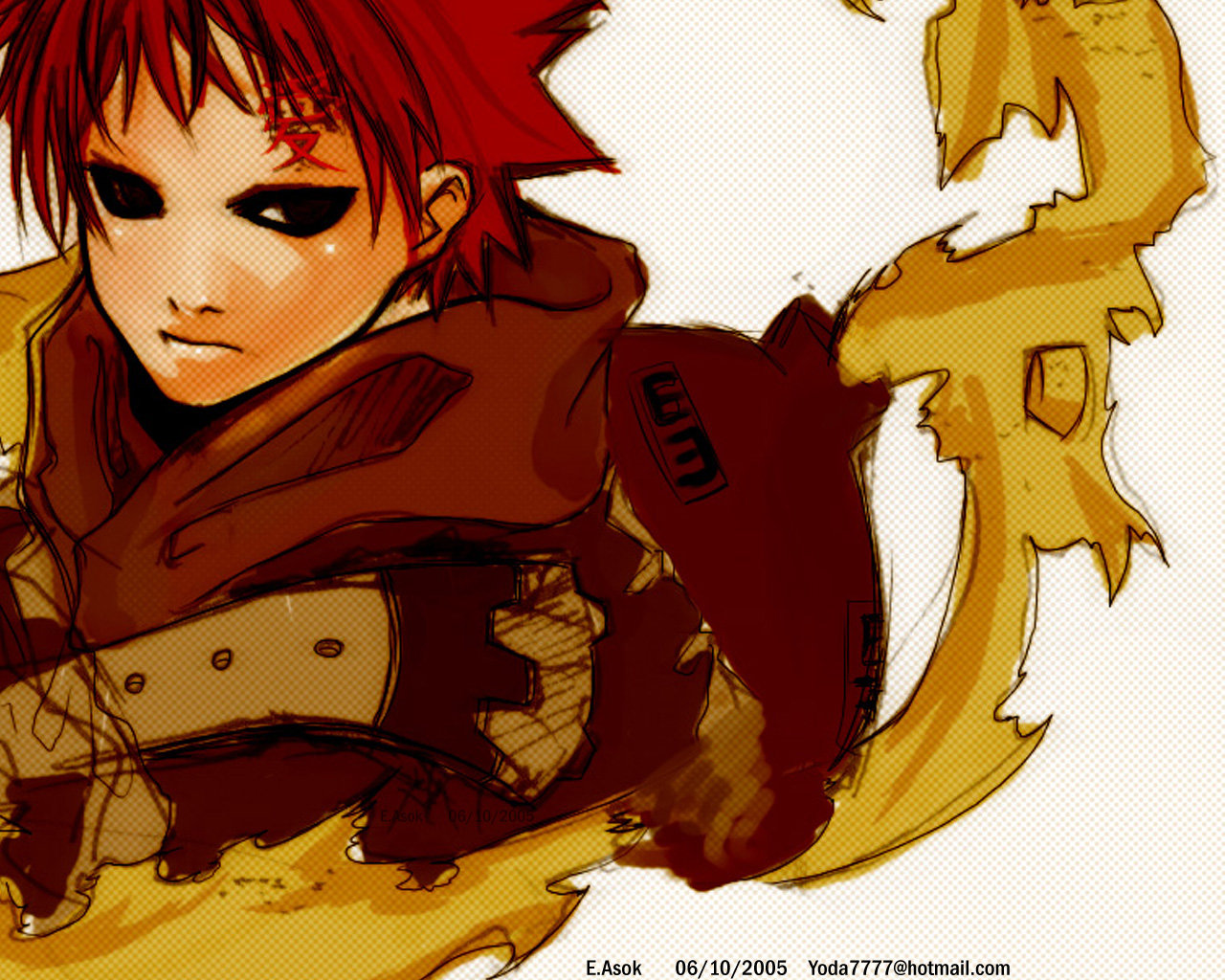 Best Gaara (Naruto) background ID:396219 for High Resolution hd 1280x1024 desktop