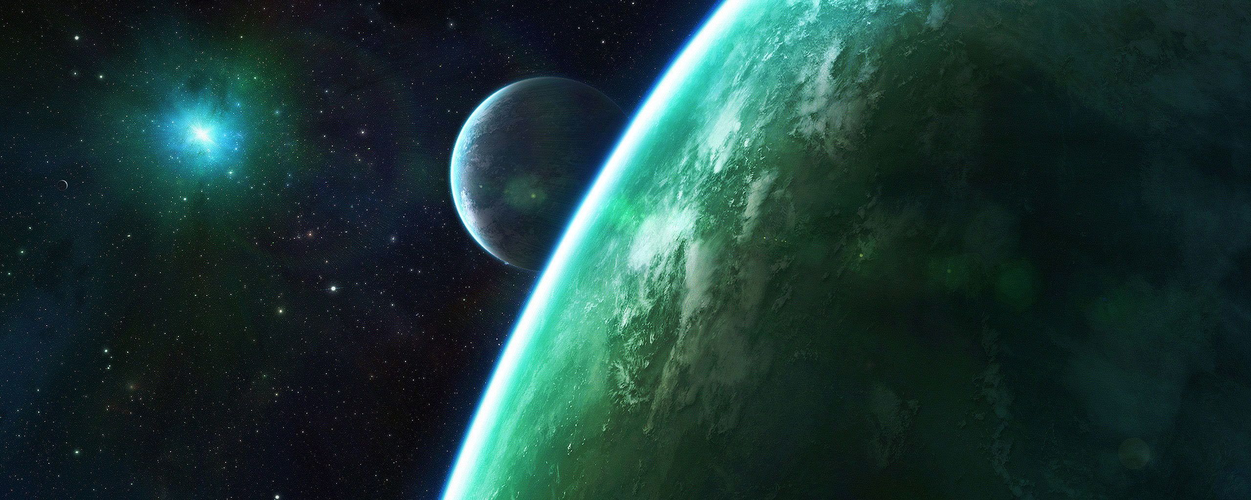 High resolution Planets dual screen 2560x1024 wallpaper ID:153112 for PC