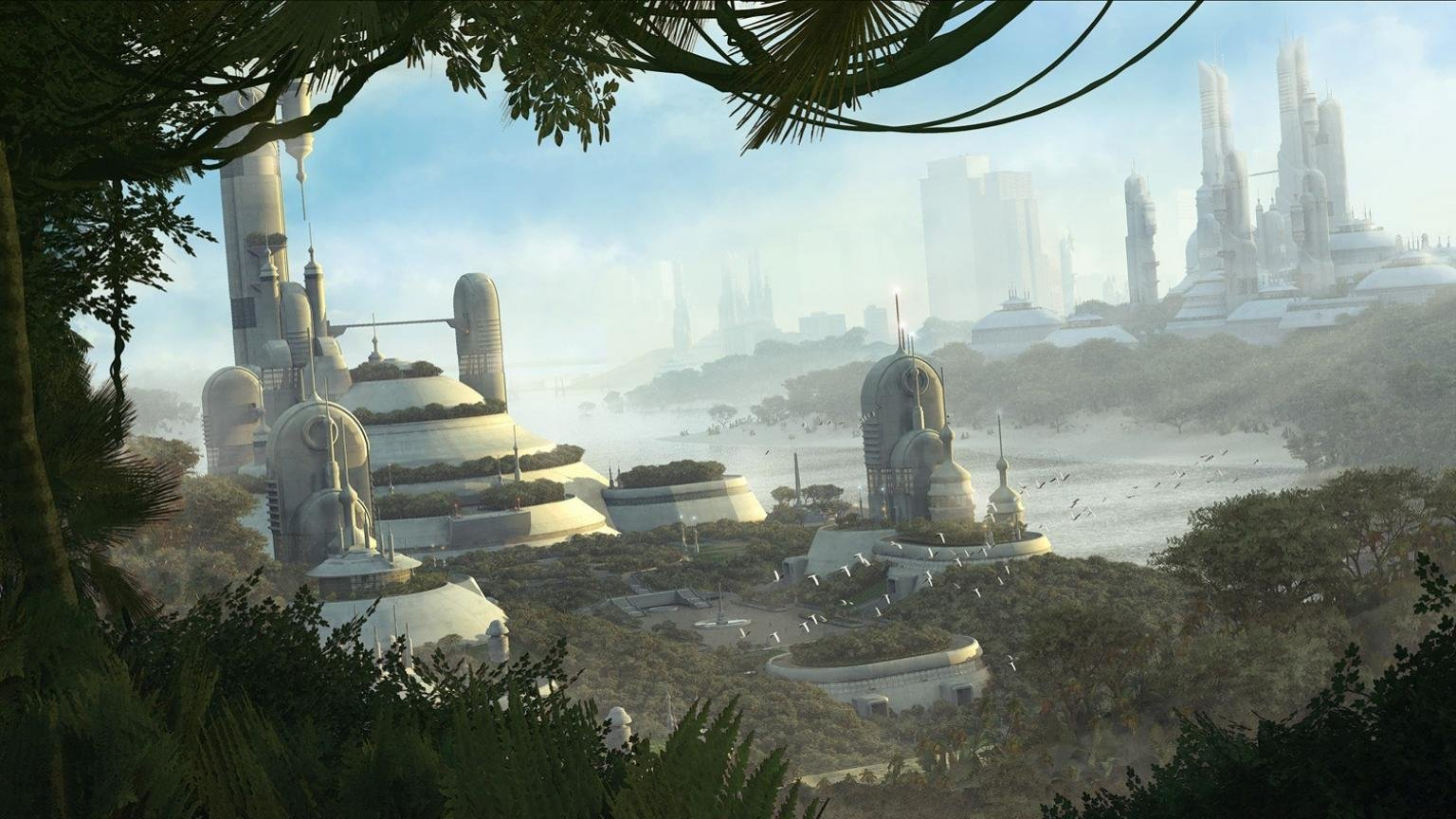 Best Futuristic city background ID:88303 for High Resolution hd 1536x864 PC