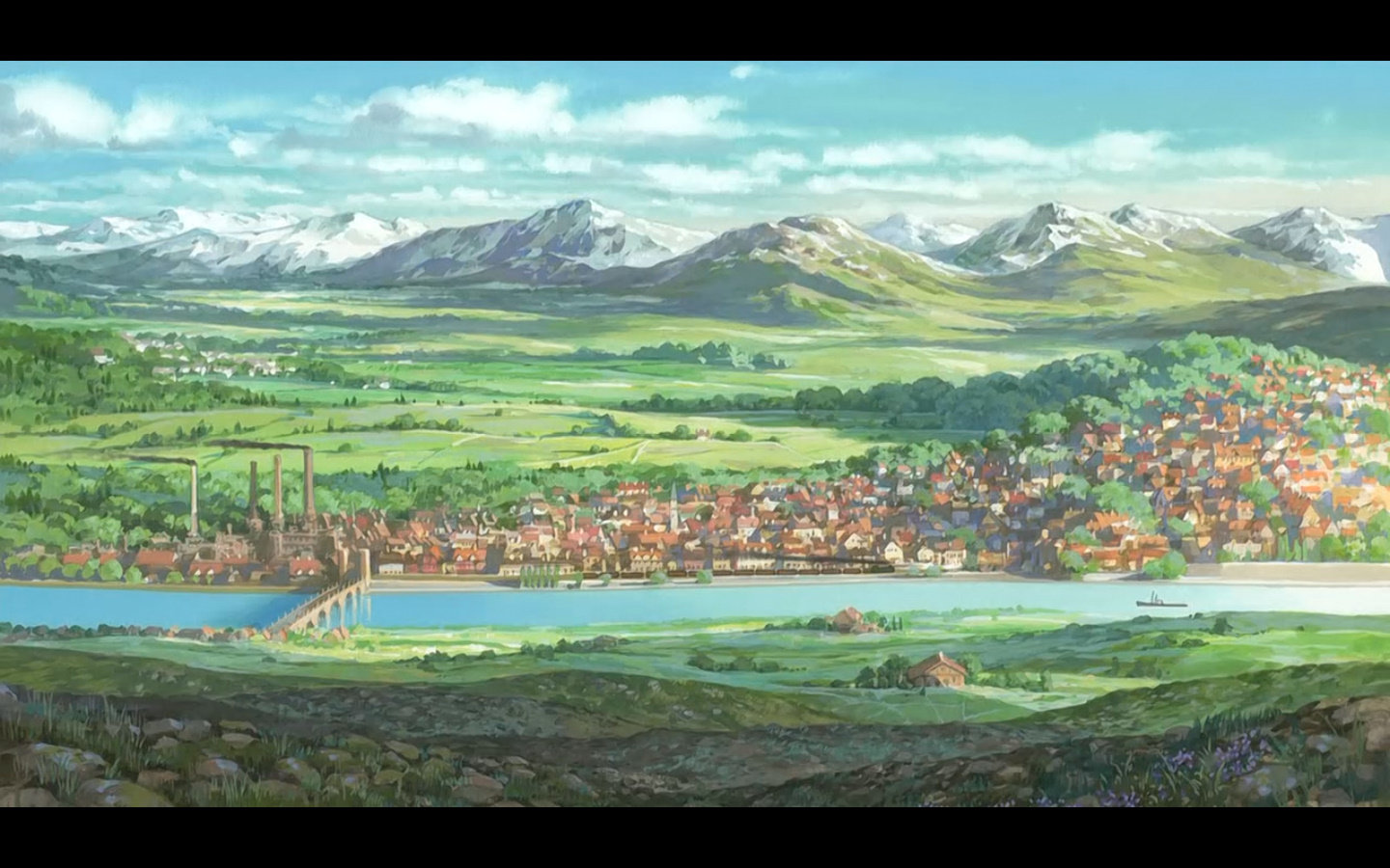 High resolution Scenery anime hd 1440x900 wallpaper ID:59847 for PC