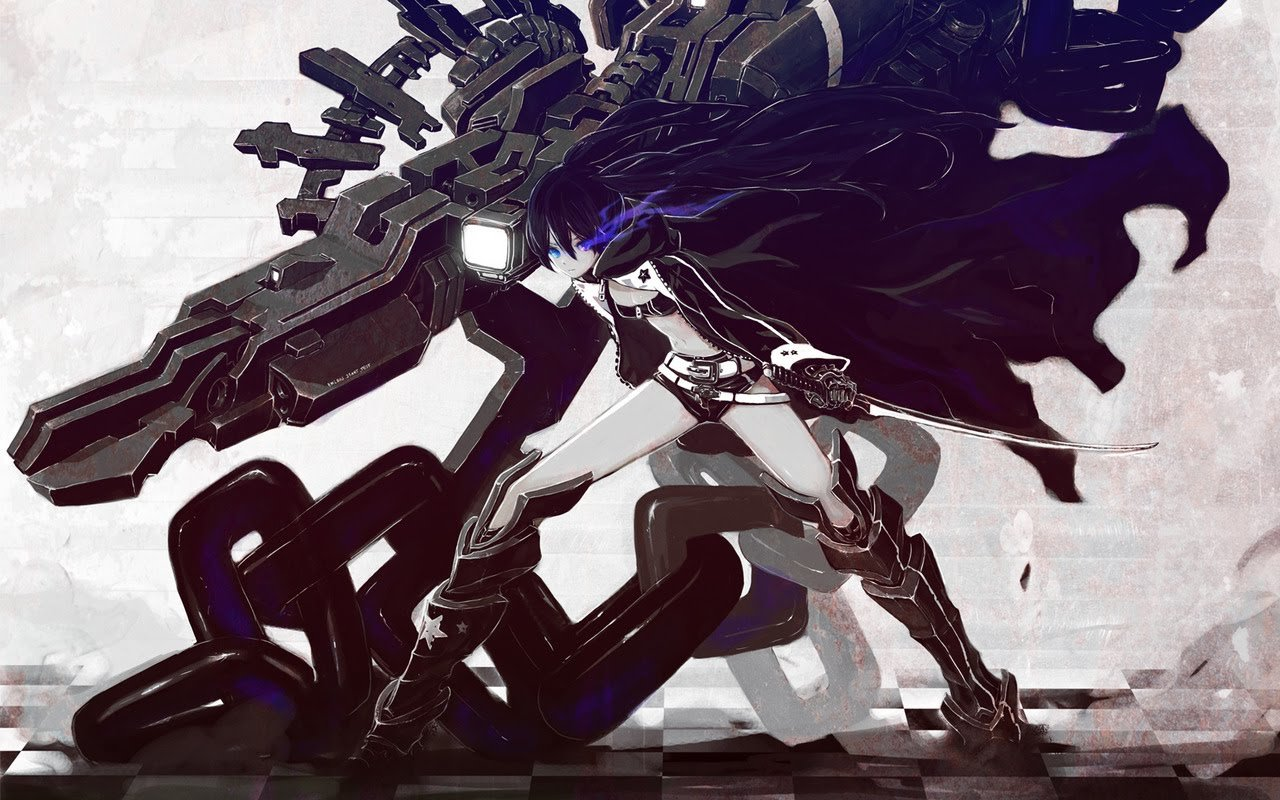 Download hd 1280x800 Black Rock Shooter computer background ID:454915 for free