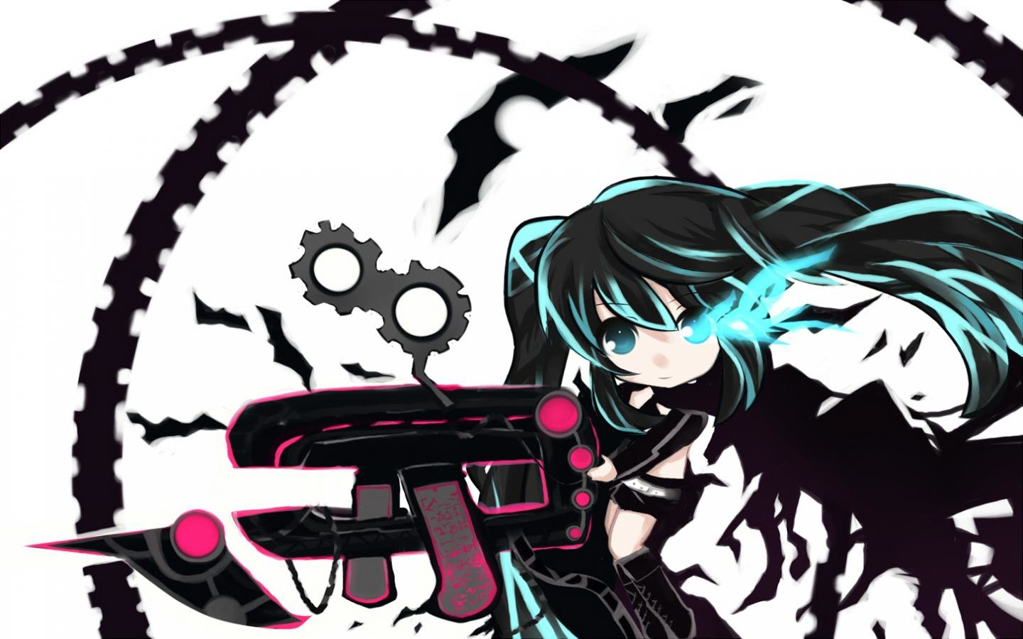 Best Black Rock Shooter background ID:454067 for High Resolution hd 1440x900 computer