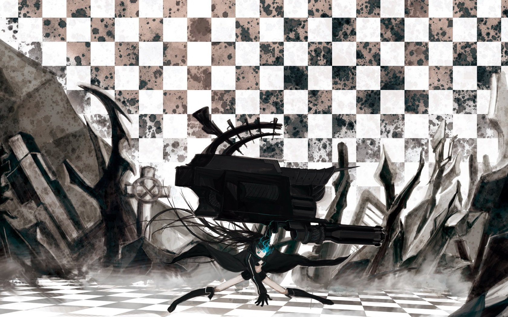 Free Black Rock Shooter high quality wallpaper ID:453464 for hd 1680x1050 computer
