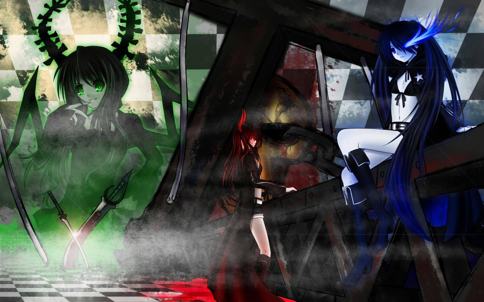 Free Dead Master (Black Rock Shooter) high quality background ID:454542 for hd 1680x1050 PC