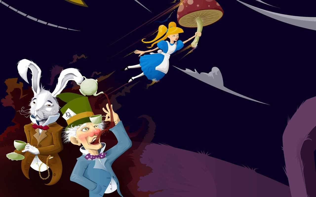 Alice In Wonderland Disney Cartoon Wallpapers Hd For Desktop
