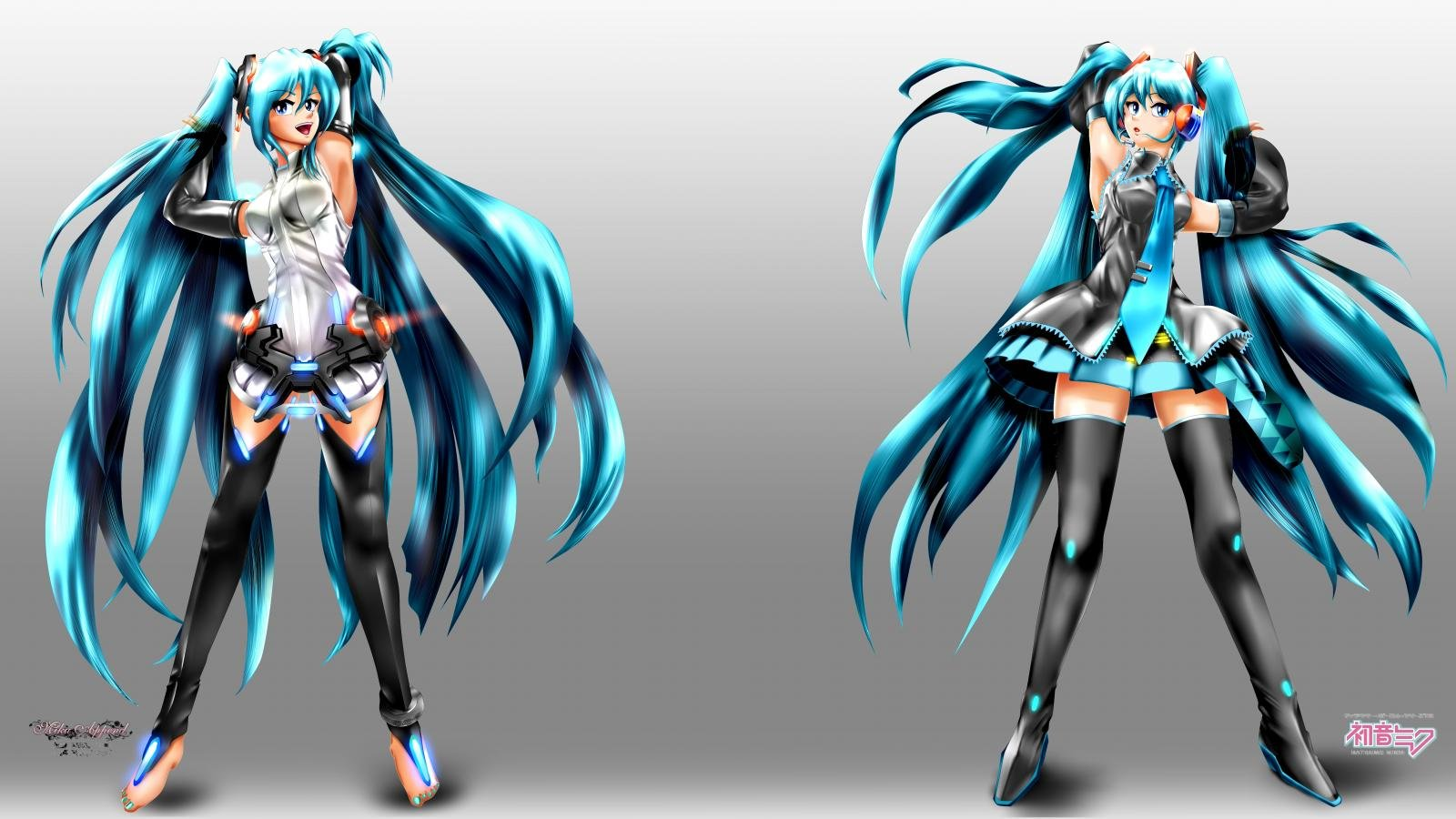 Download hd 1600x900 Hatsune Miku computer wallpaper ID:4342 for free