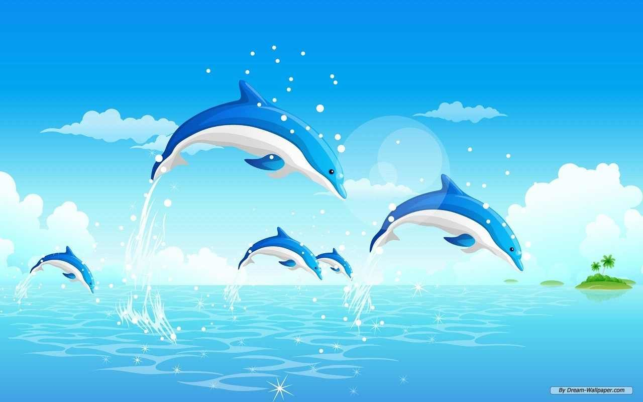 Free download Dolphin background ID:248441 hd 1280x800 for PC