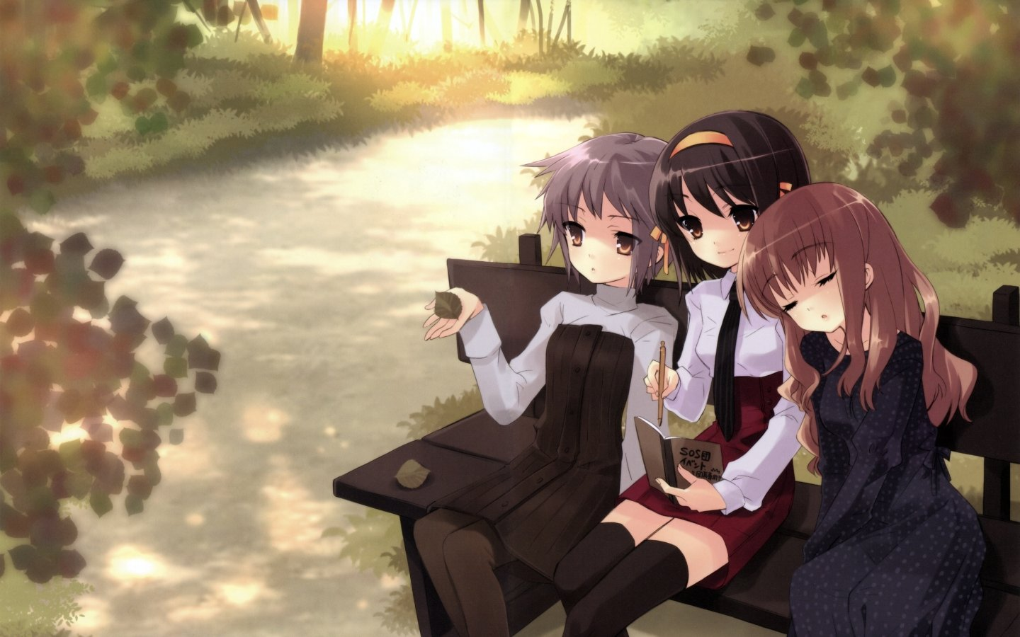 Download hd 1440x900 The Melancholy Of Haruhi Suzumiya PC background ID:139463 for free