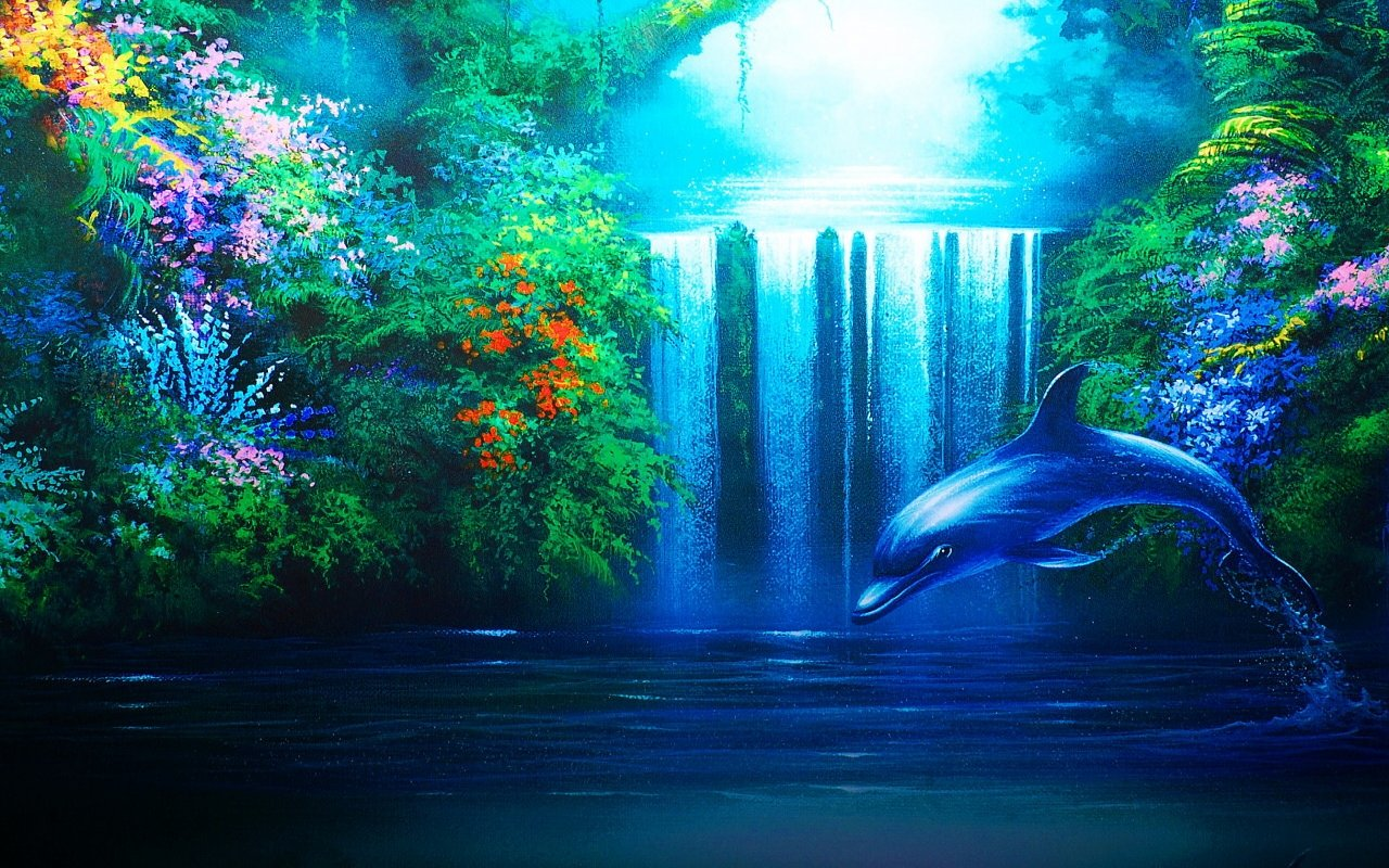 High resolution Dolphin hd 1280x800 wallpaper ID:248264 for PC