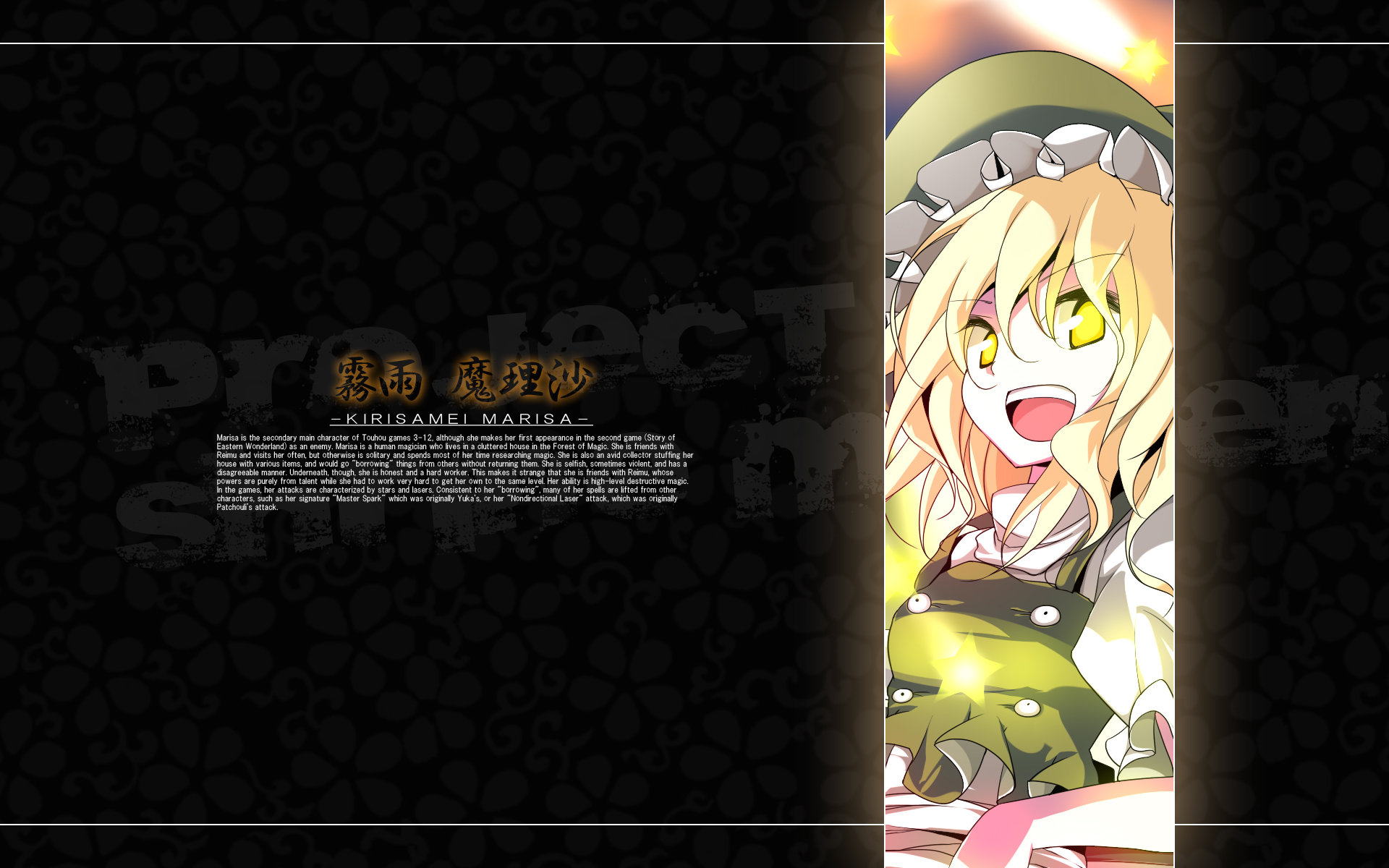 Best Marisa Kirisame background ID:225596 for High Resolution hd 1920x1200 PC