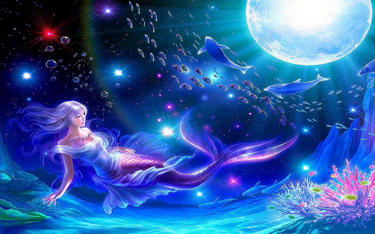 Free Mermaid high quality background ID:329329 for hd 1280x800 PC