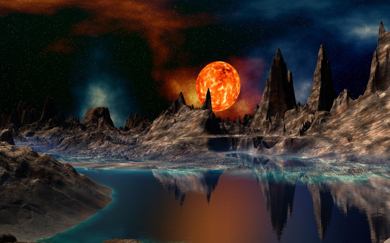 High resolution Planet Rise hd 1280x800 wallpaper ID:193732 for desktop