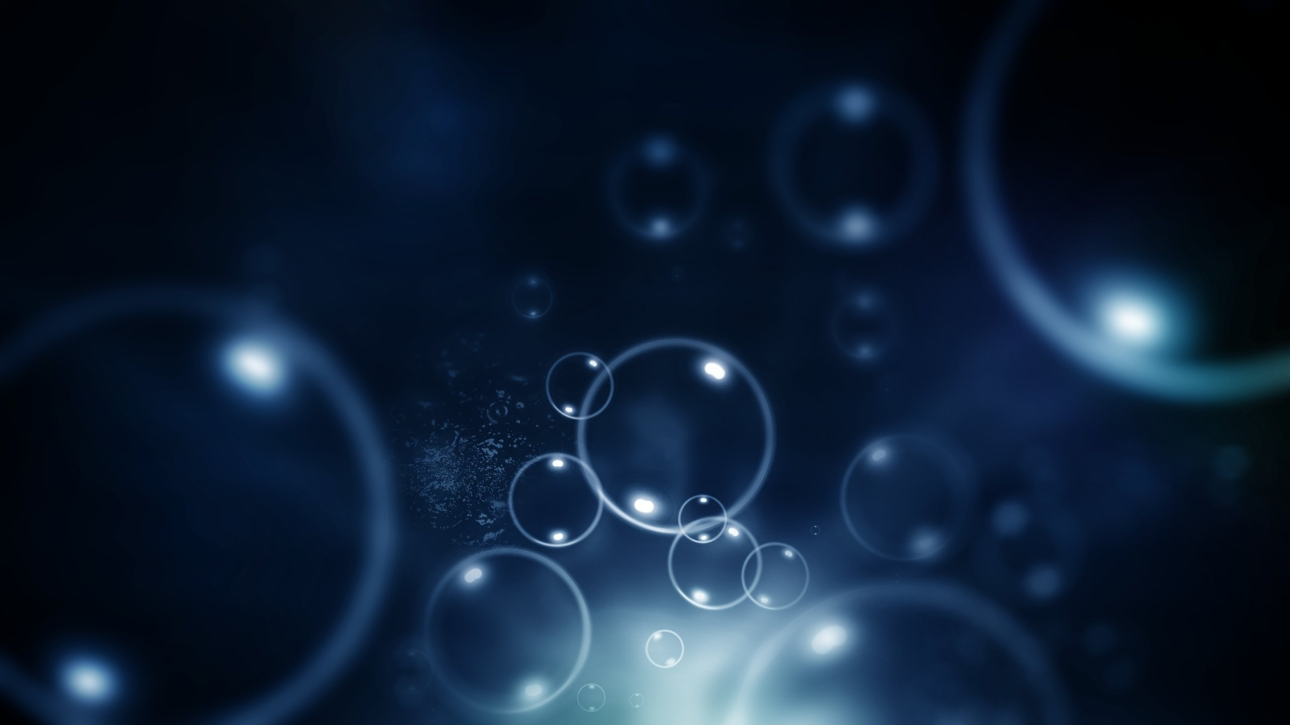 Download hd 2560x1440 Abstract bubble computer background ID:374618 for free