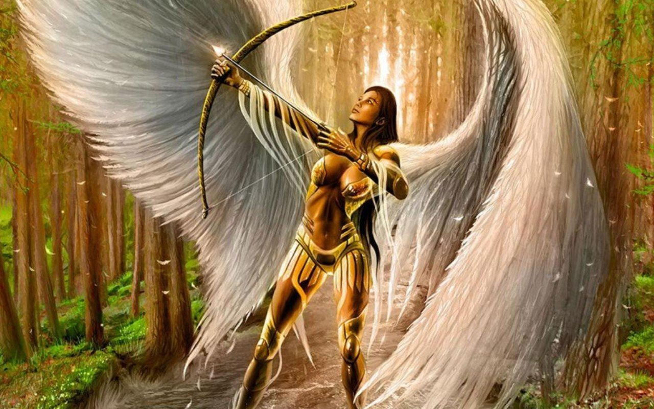 Download hd 1280x800 Angel Warrior desktop wallpaper ID:352218 for free