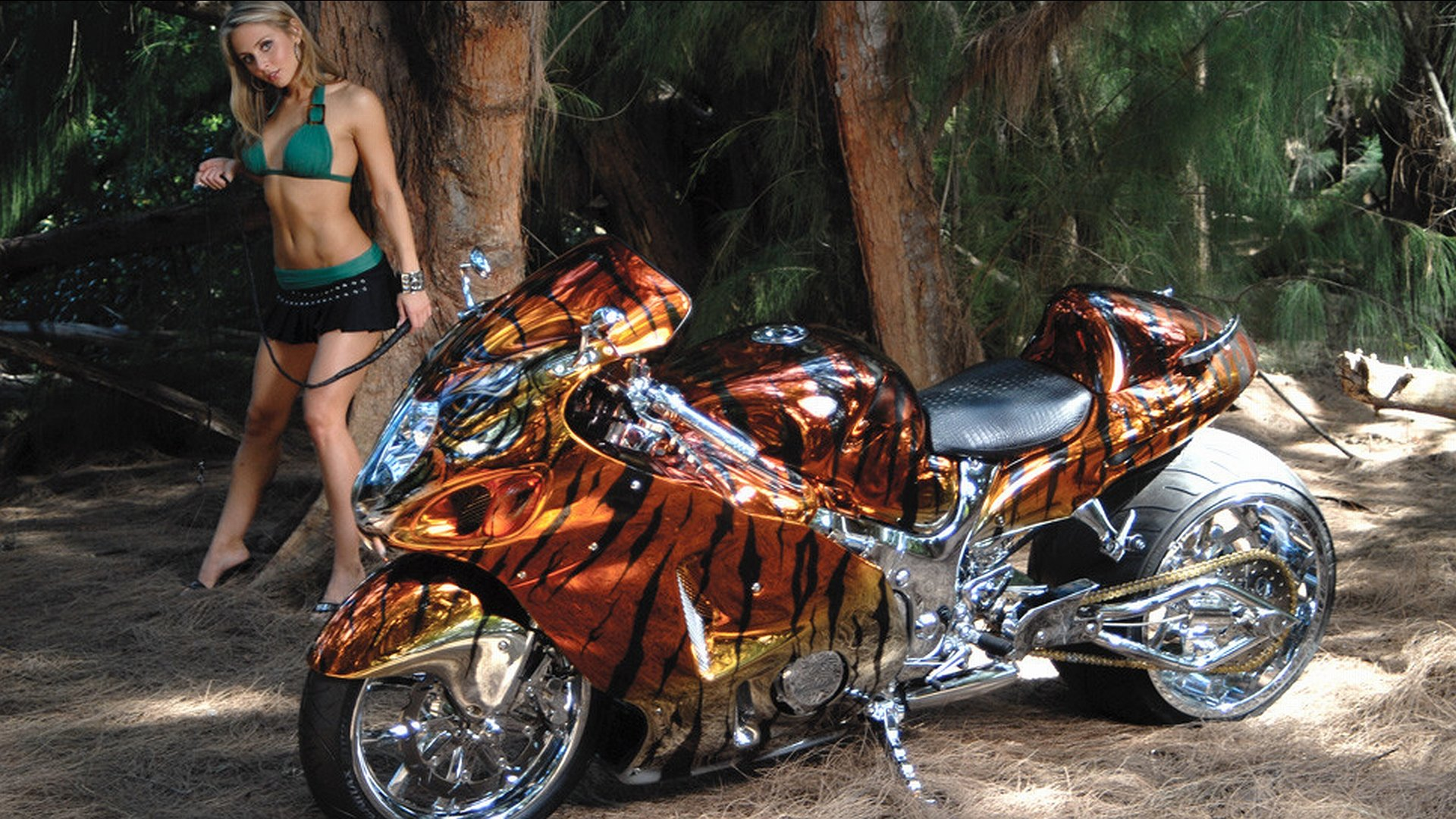 Download full hd 1080p Girls and Bike (Motorcycles) computer wallpaper ID:67063 for free