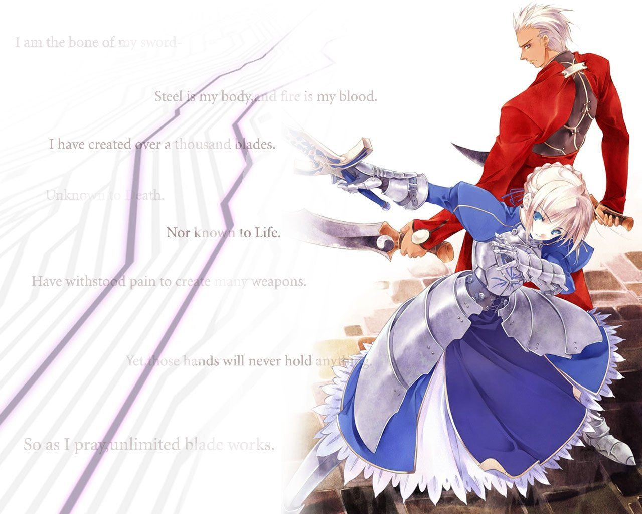 Download hd 1280x1024 Fate/Stay Night: Unlimited Blade Works PC background ID:291062 for free