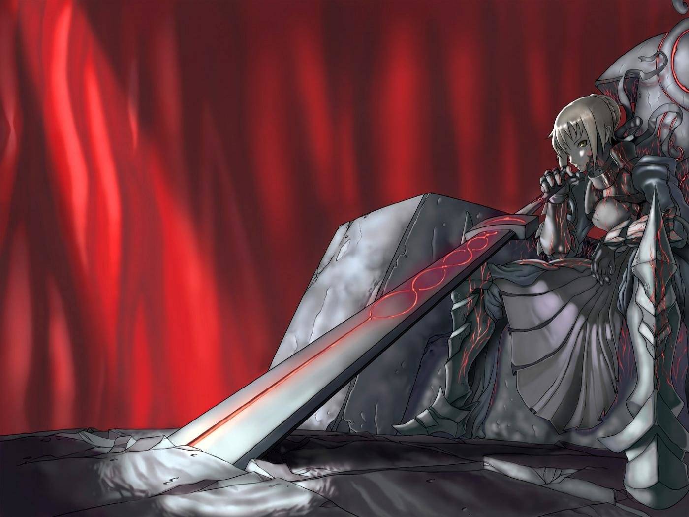 Download hd 1400x1050 Saber Alter PC wallpaper ID:468933 for free