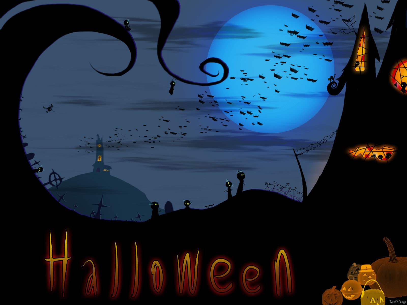 Best Halloween wallpaper ID:402155 for High Resolution hd 1600x1200 PC