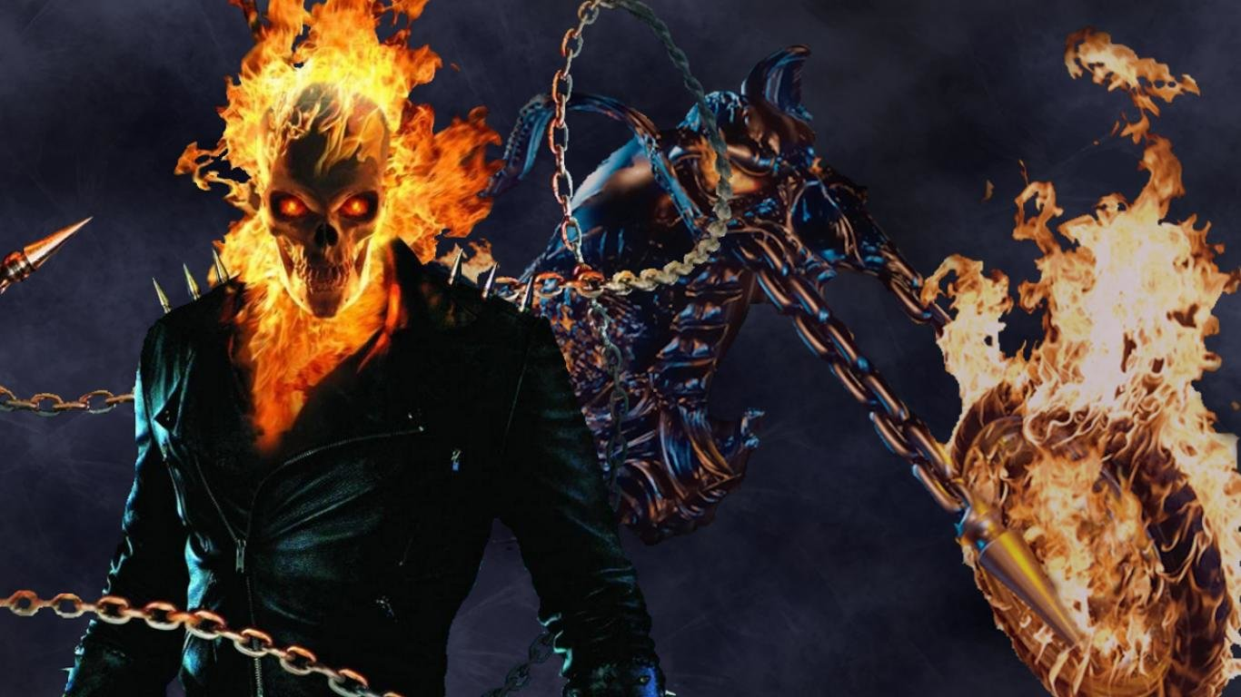 High Resolution Ghost Rider Movie 1366x768 Laptop Wallpaper ID198554 For Computer