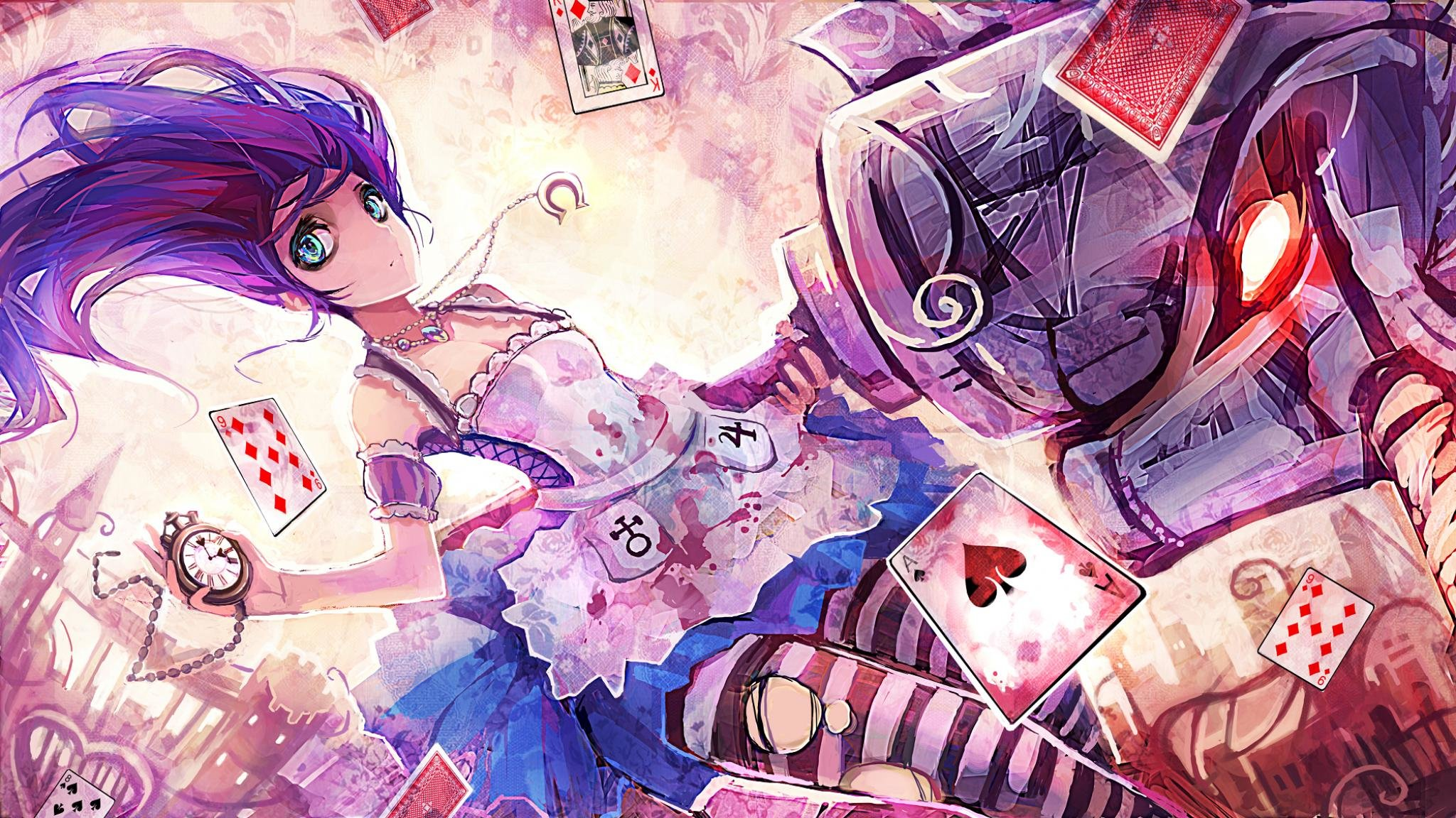 Download Hd 2048x1152 Alice In Wonderland Anime Pc