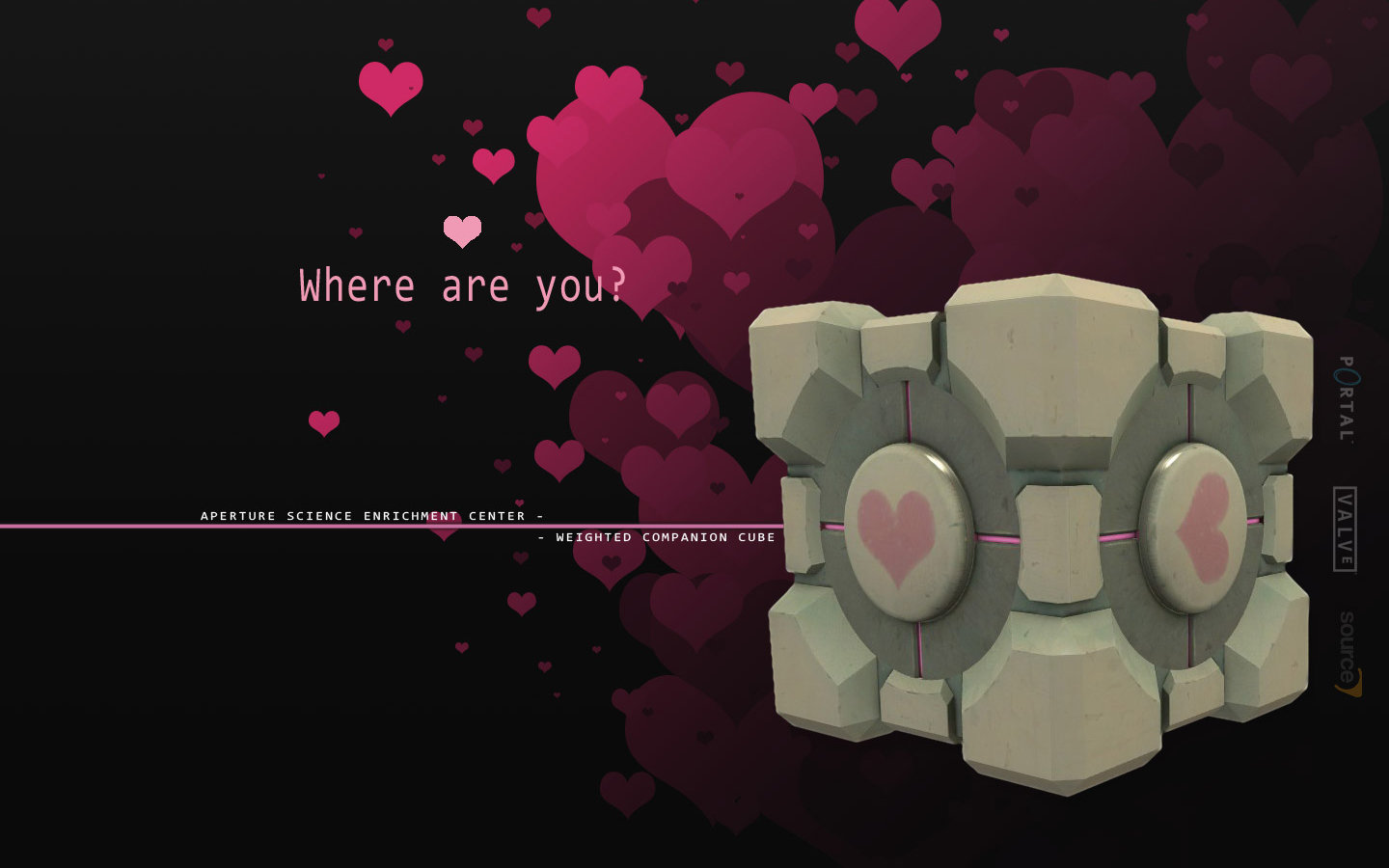 High resolution Weighted Companion Cube hd 1440x900 wallpaper ID:274913 for computer