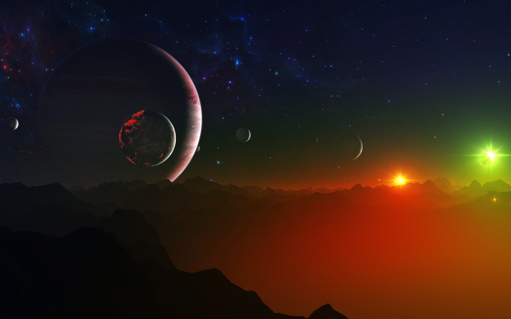 Free download Sci Fi landscape background ID:233188 hd 1680x1050 for PC