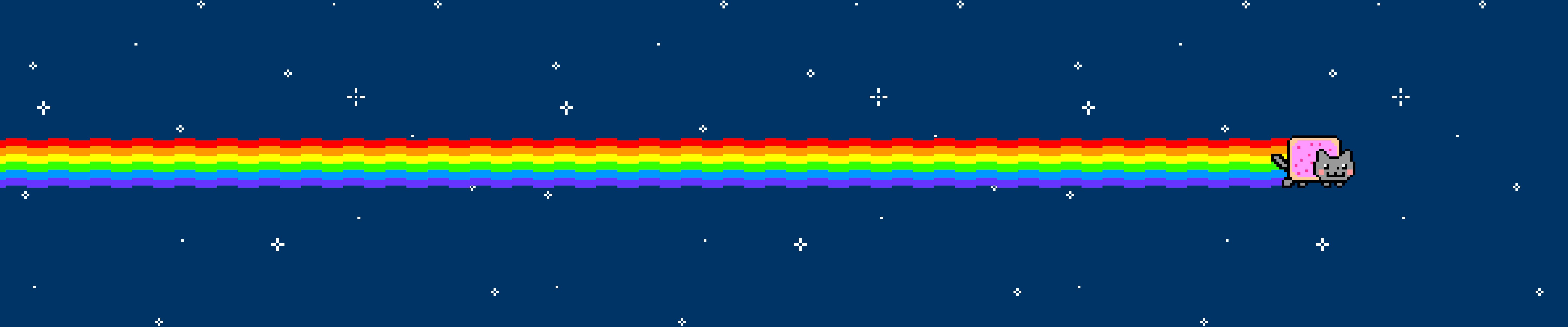 Free download Nyan Cat wallpaper ID:498879 triple screen 5760x1200 for PC