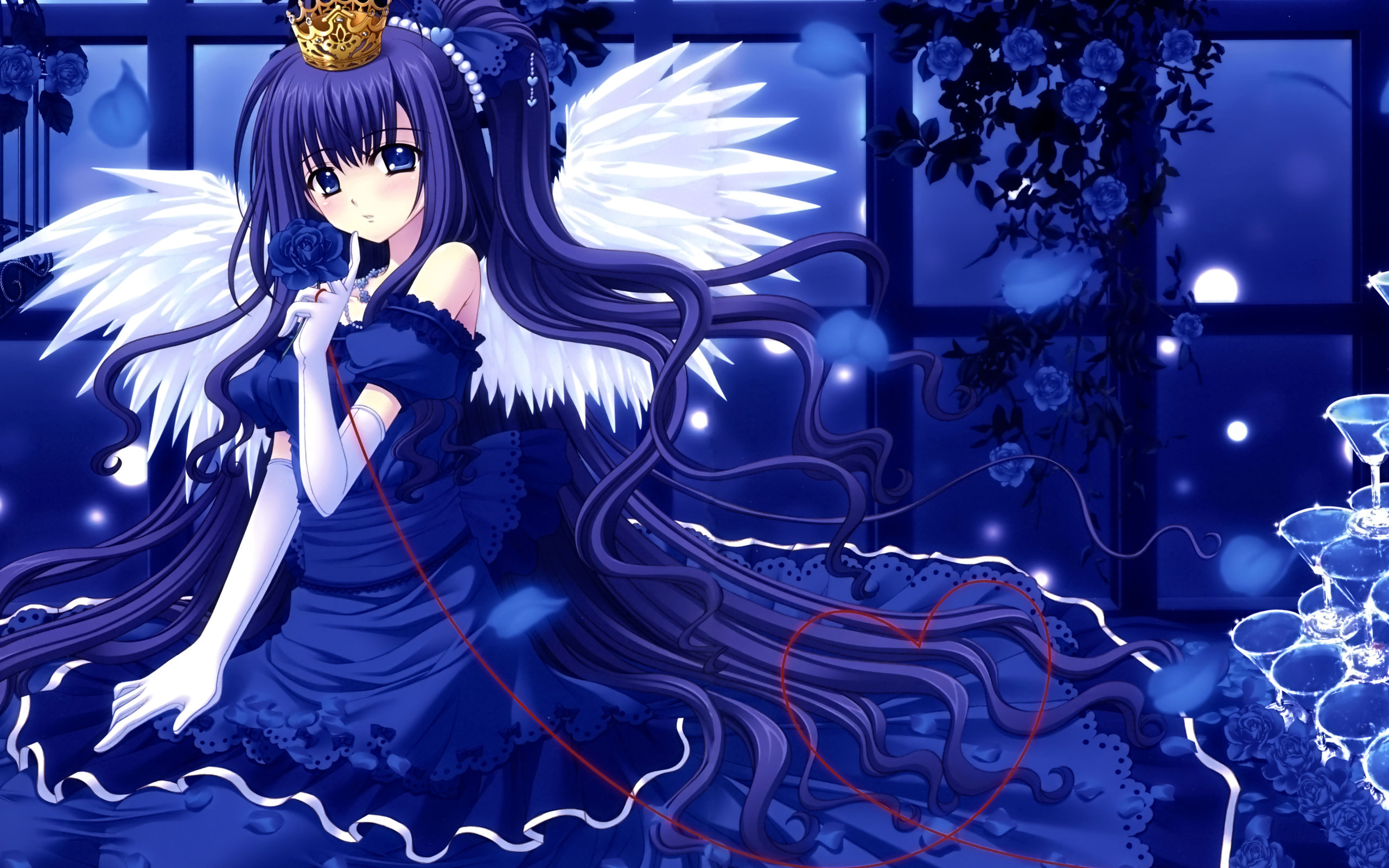 Download hd 2560x1600 Angel Anime computer background ID:61924 for free