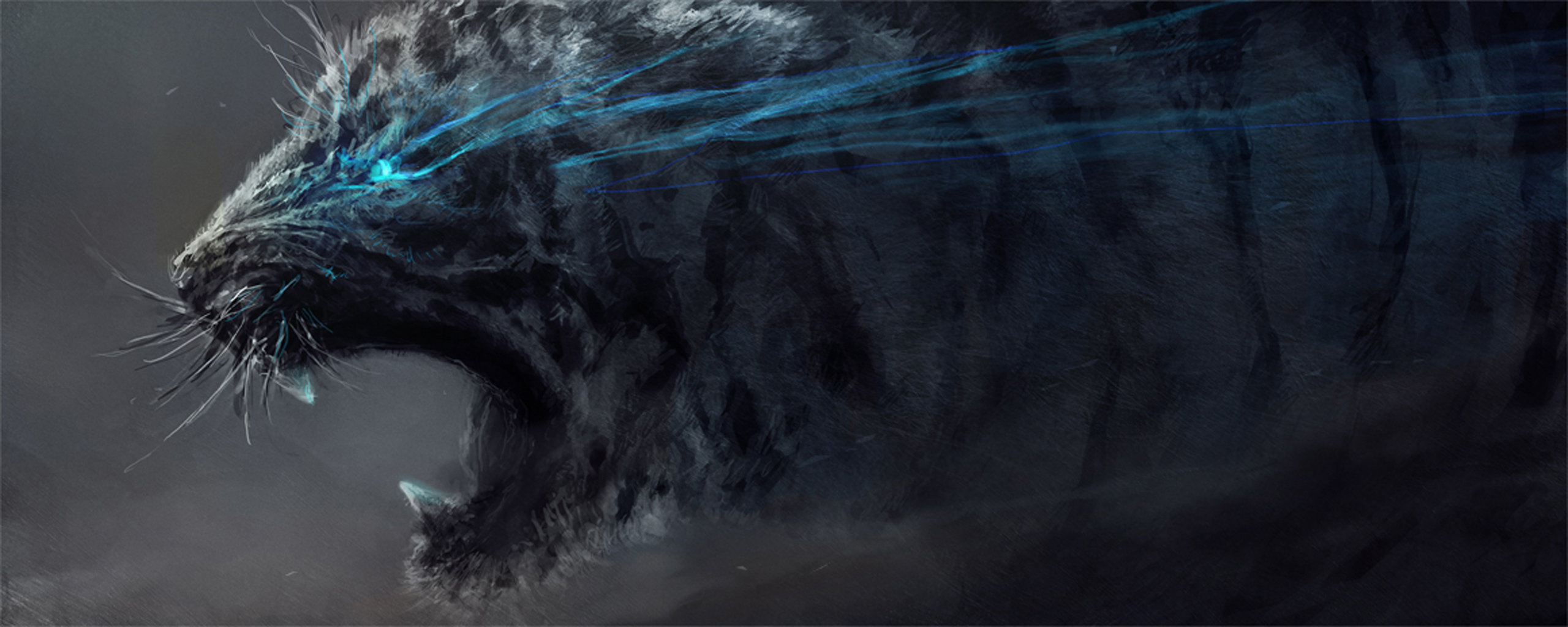 High resolution Tiger dual screen 2560x1024 wallpaper ID:116402 for computer
