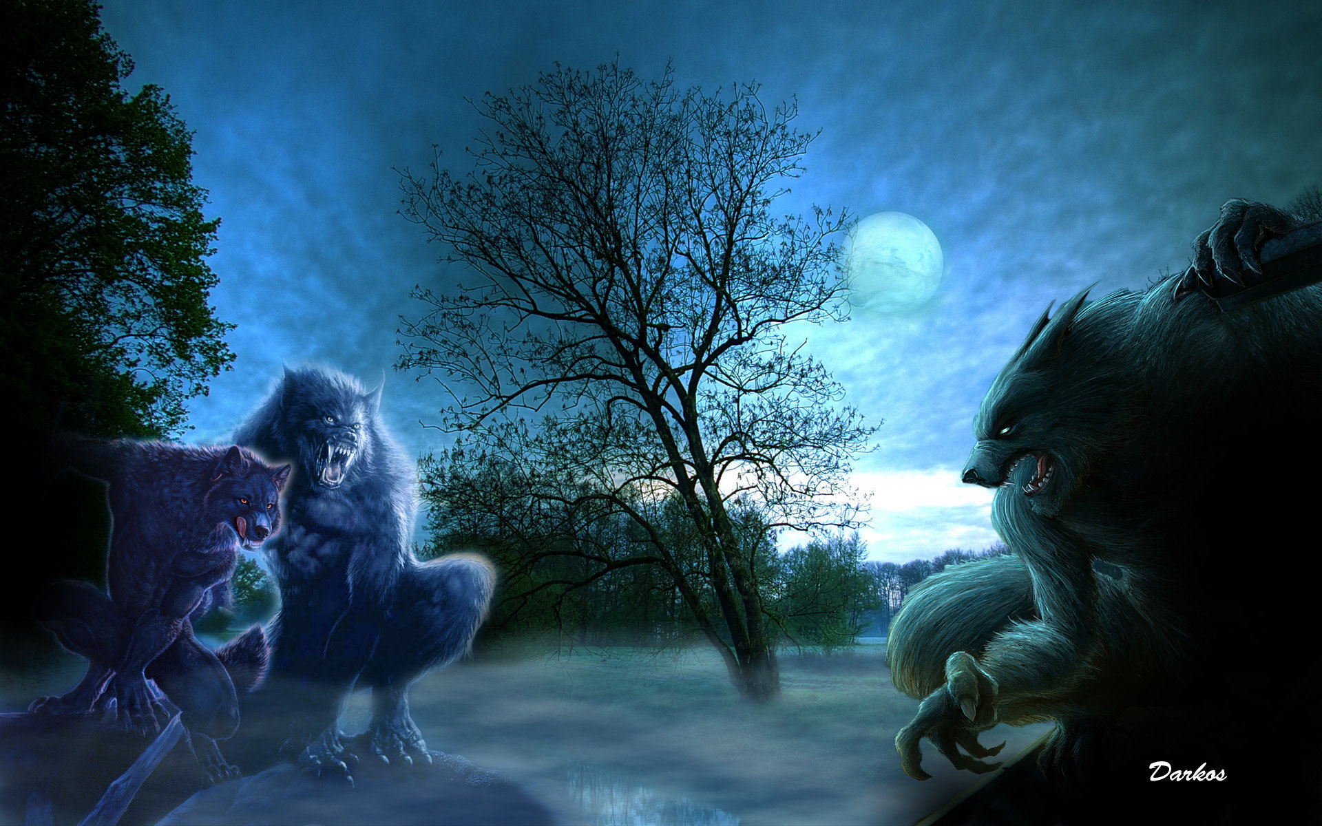 Download hd 1920x1200 Werewolf PC background ID:163771 for free