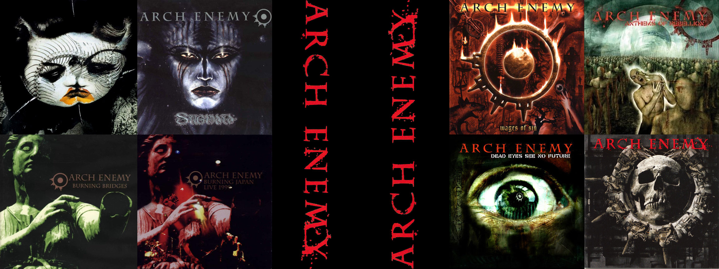 Awesome Arch Enemy free wallpaper ID:347735 for dual monitor 2304x864 PC