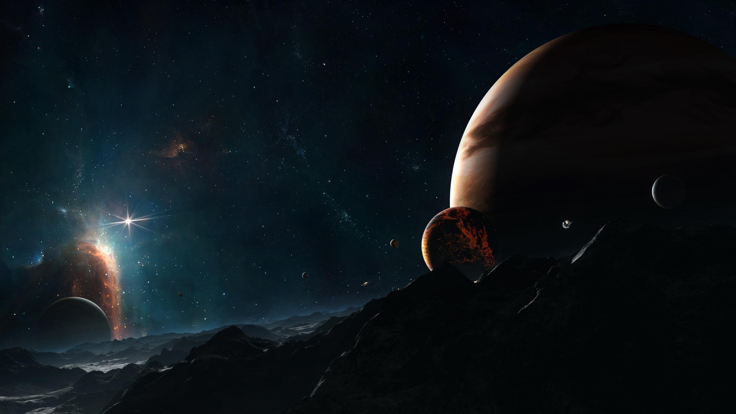 Download Hd 2560x1440 Sci Fi Landscape Pc Wallpaper Id 233179 For Free