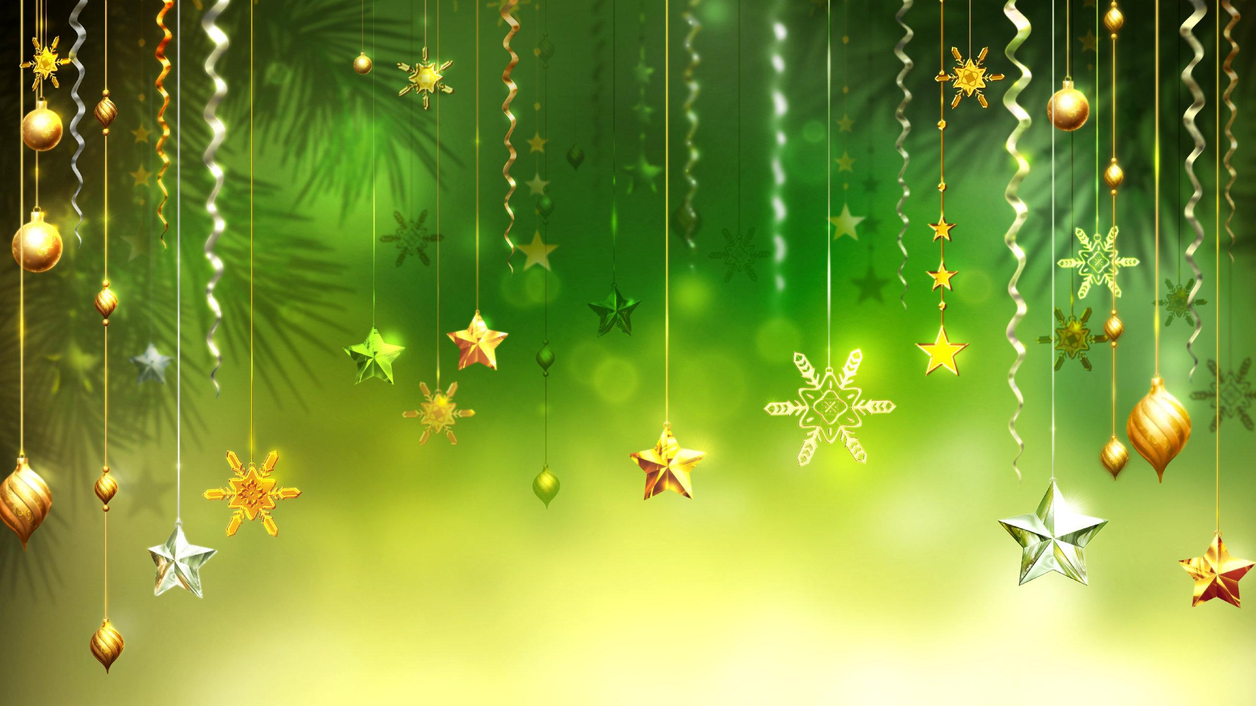 High Resolution Christmas Ornaments Decorations Hd 2560x1440 Wallpaper Id434426 For Desktop