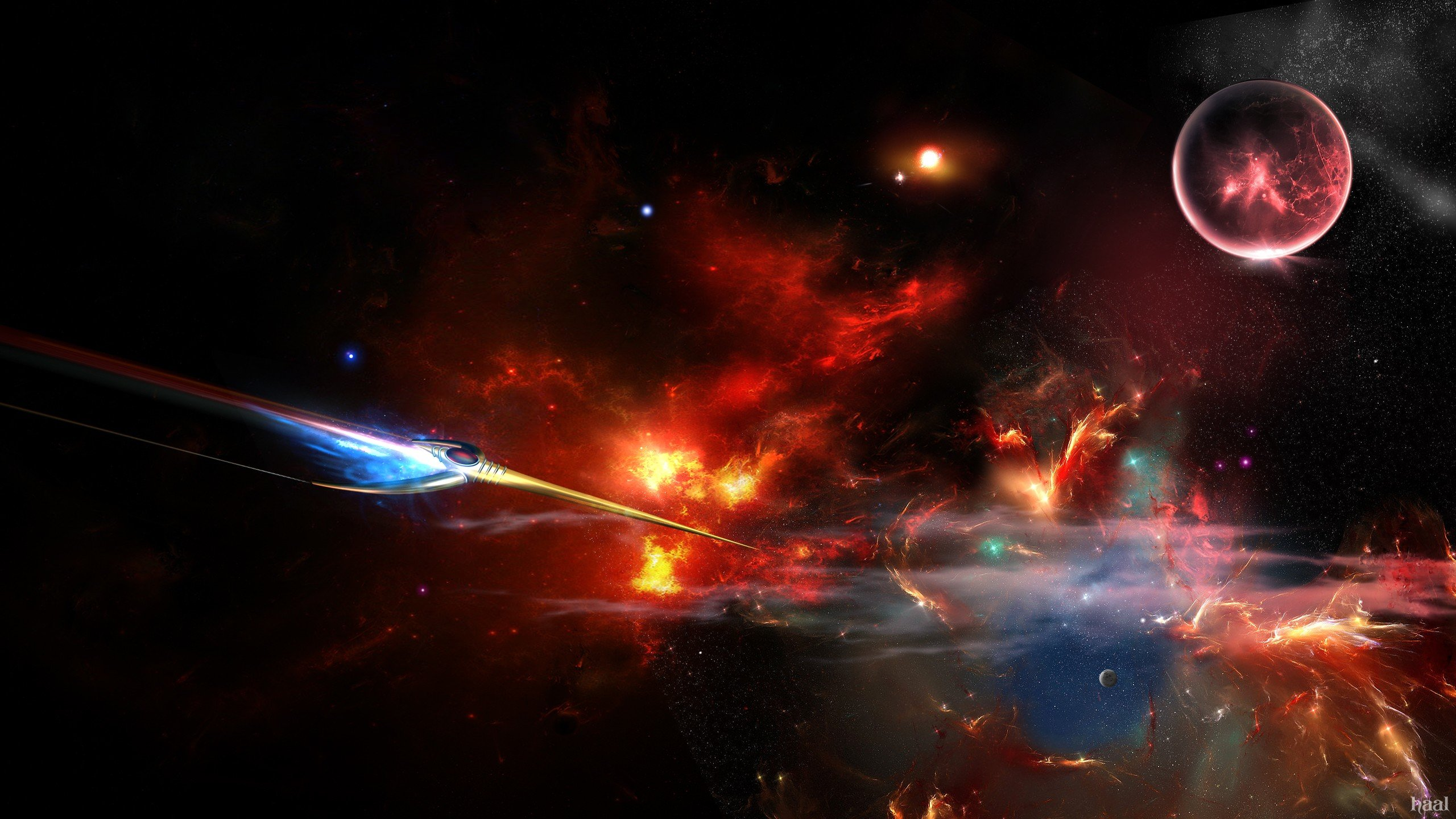 Download hd 2560x1440 Spaceship PC wallpaper ID:184400 for free