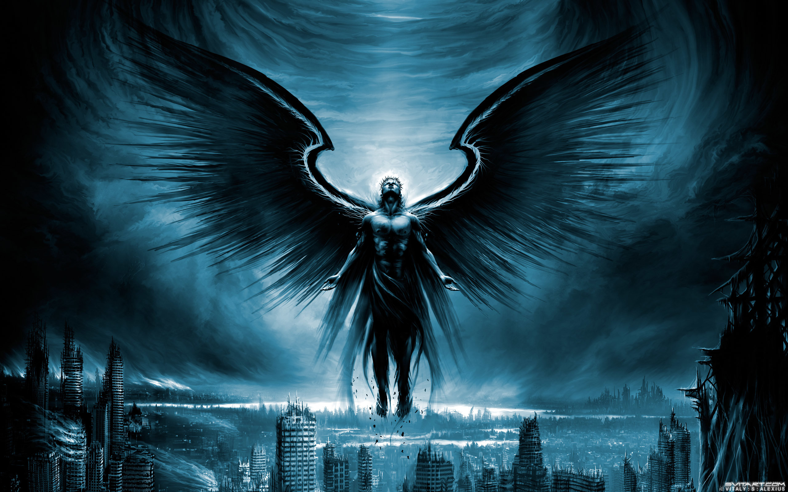 Free Dark angel high quality background ID:142133 for hd 2560x1600 desktop