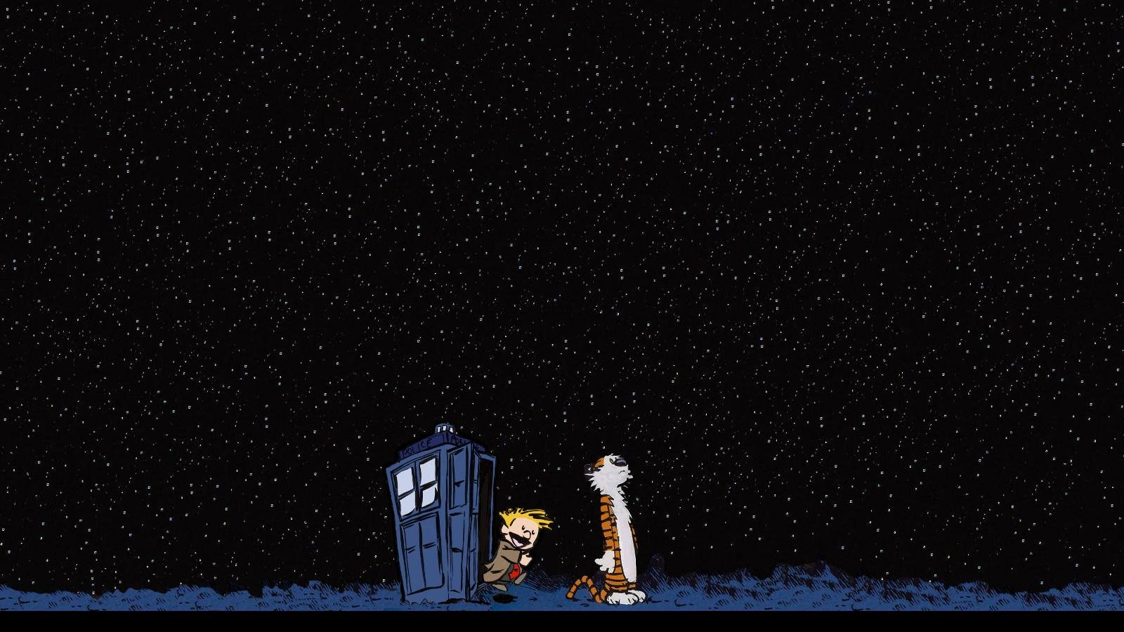 High resolution Calvin and Hobbes hd 1600x900 wallpaper ID:211375 for computer