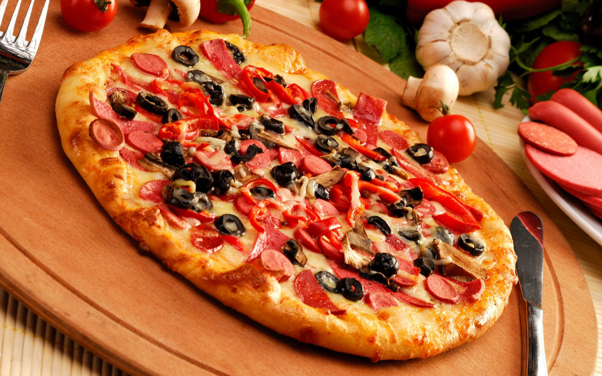 Download hd 1920x1200 Pizza PC wallpaper ID:390314 for free