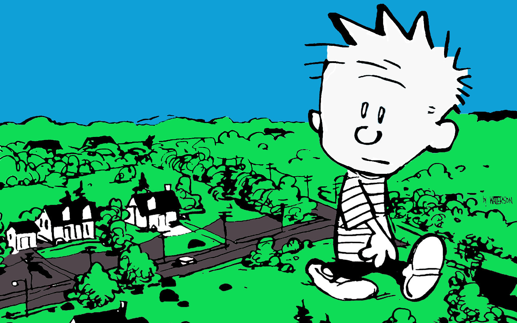 Awesome Calvin and Hobbes free wallpaper ID:211399 for hd 1680x1050 computer